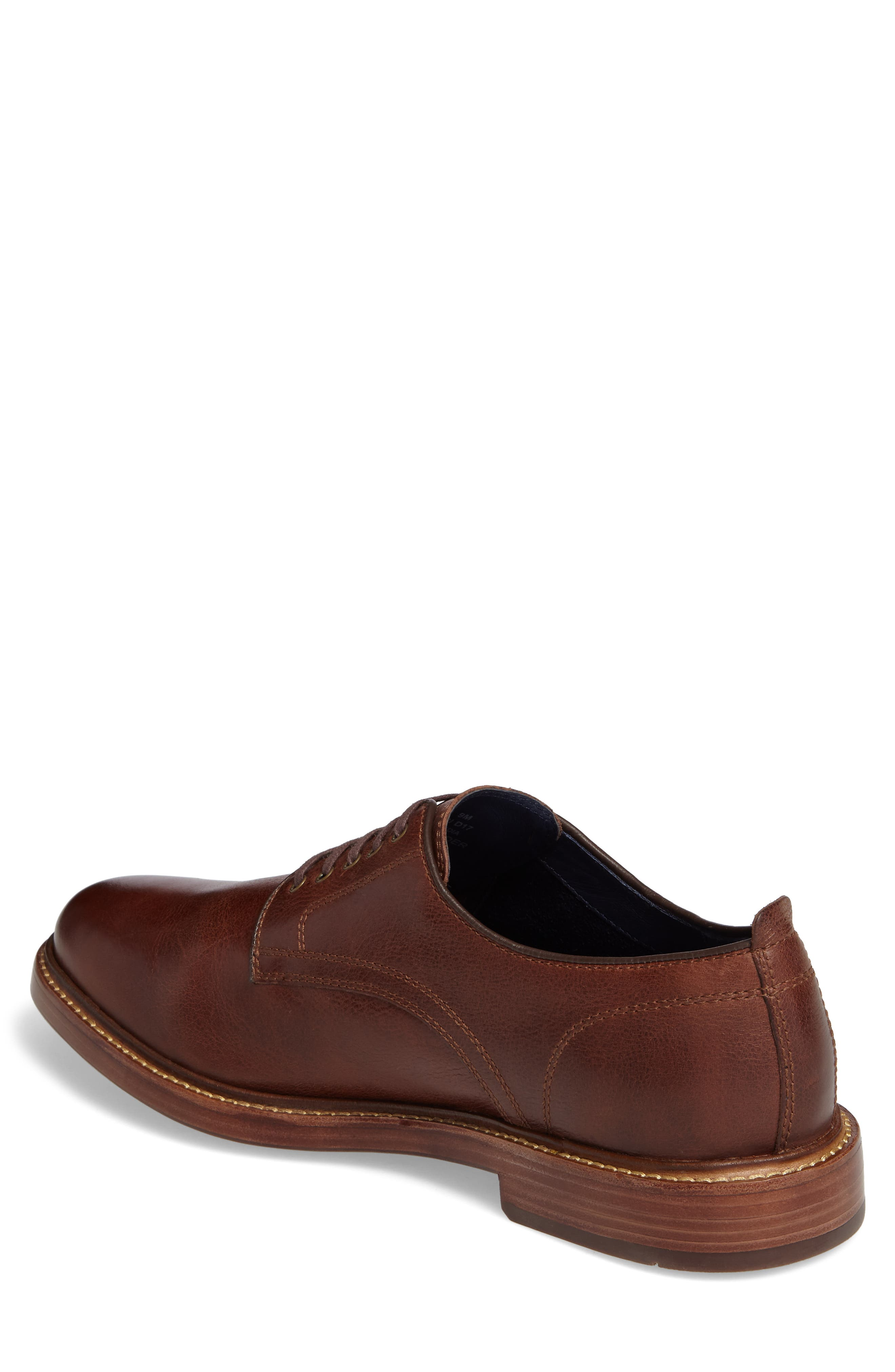 Tyler Grand Plain-Toe Derby,                             Alternate thumbnail 2, color,                             WOODBURY LEATHER