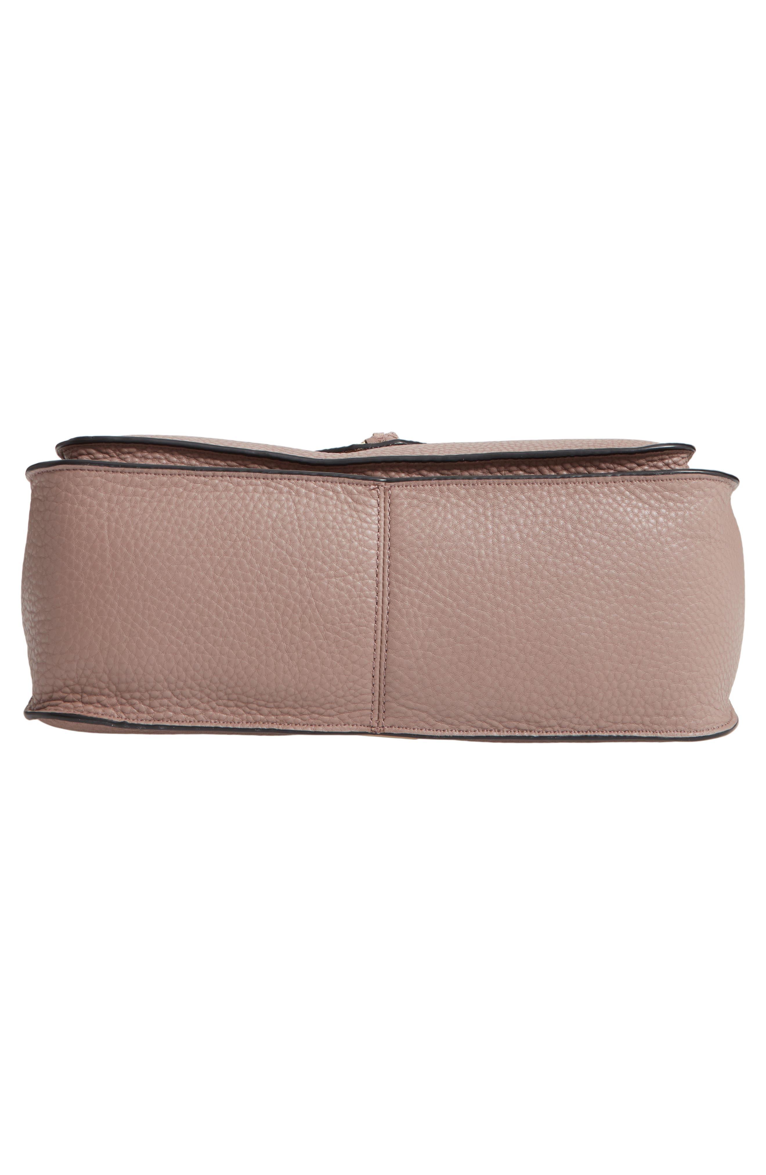 Darren Leather Messenger Bag,                             Alternate thumbnail 6, color,                             MINK
