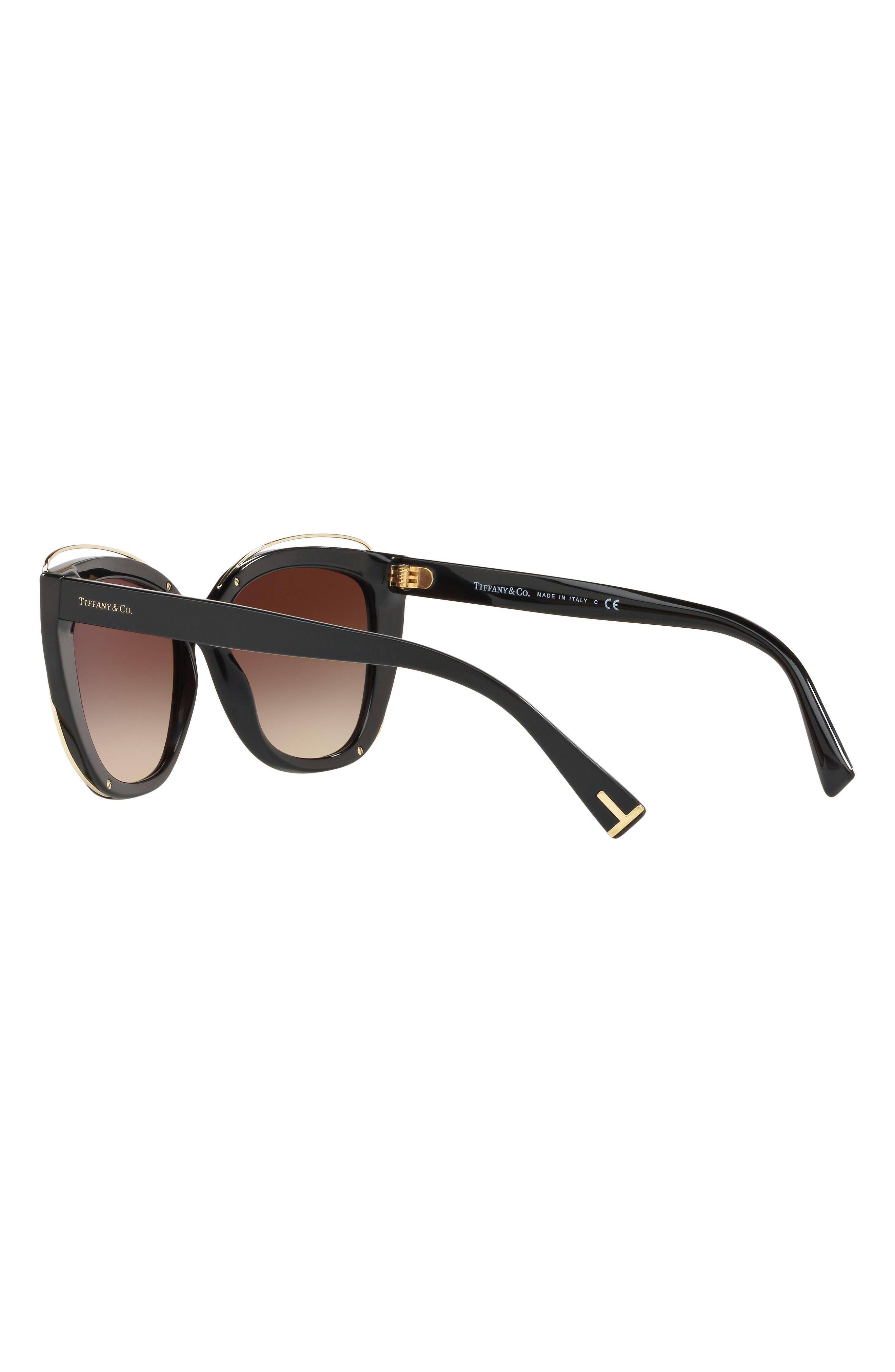 54mm Gradient Cat Eye Sunglasses,                             Alternate thumbnail 3, color,                             BLACK GRADIENT