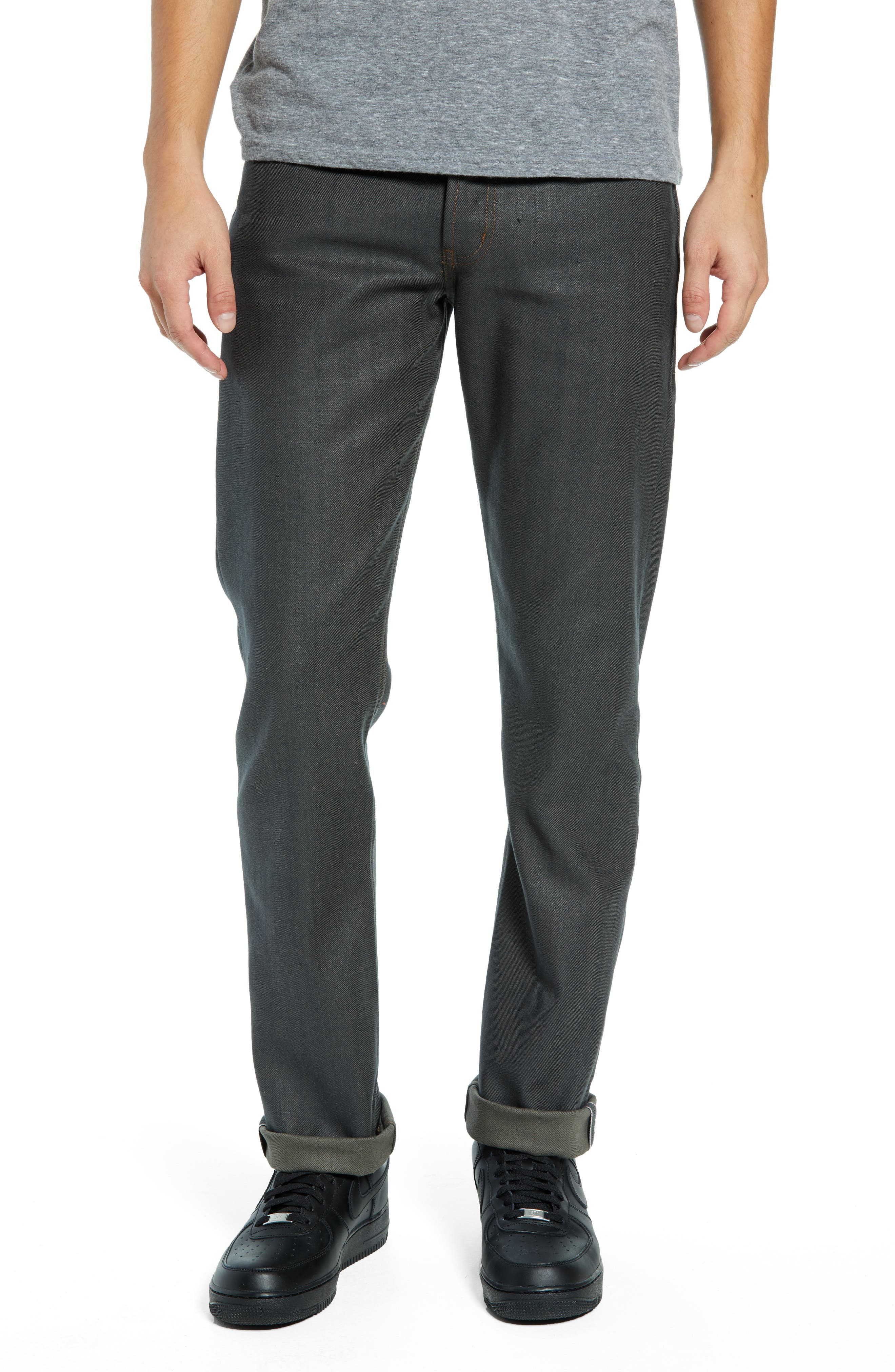 Weird Guy Slim Fit Jeans,                             Main thumbnail 1, color,                             HUNTER STRETCH SELVEDGE