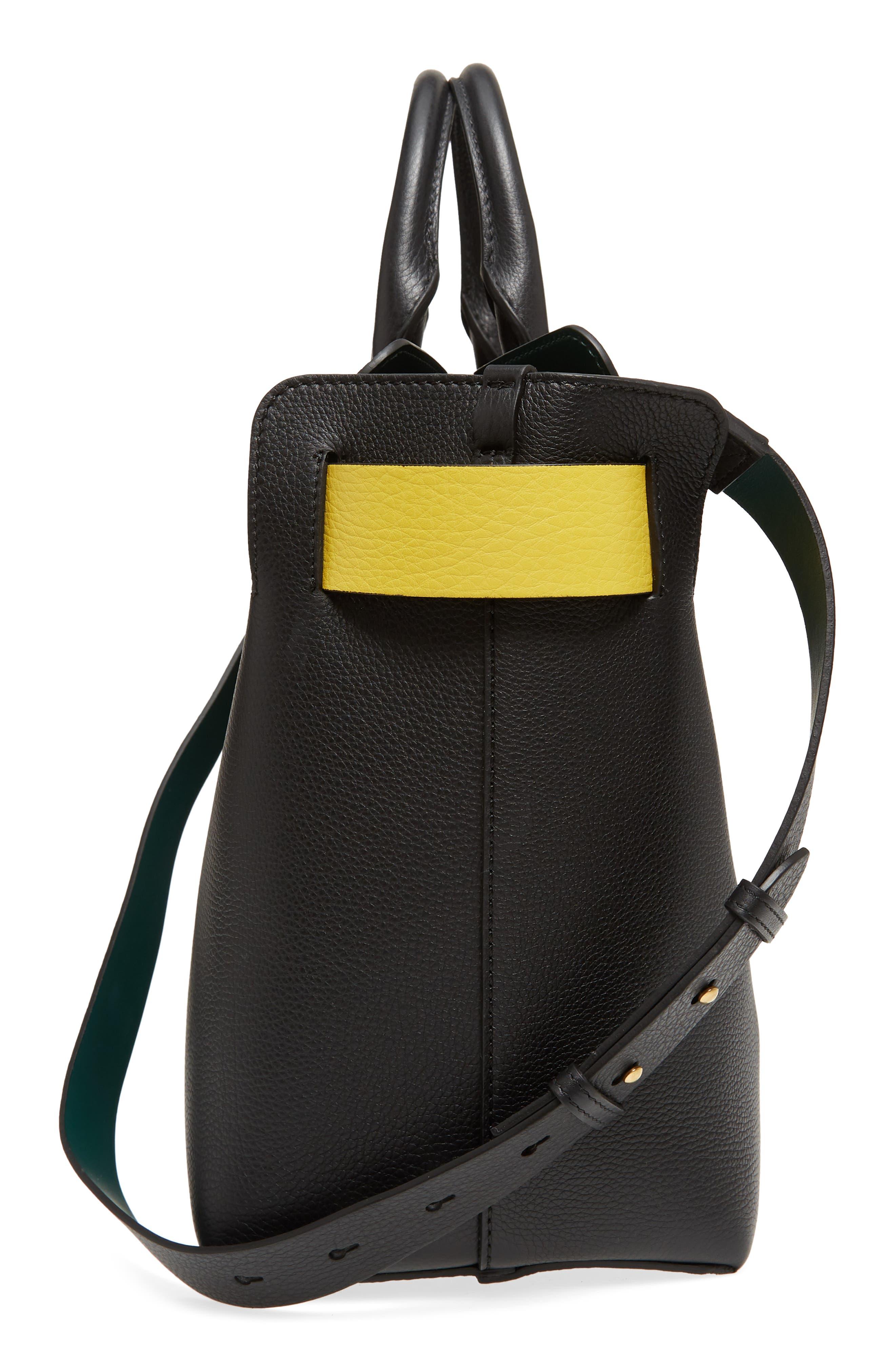 Medium Belt Bag Leather Tote,                             Alternate thumbnail 6, color,                             001