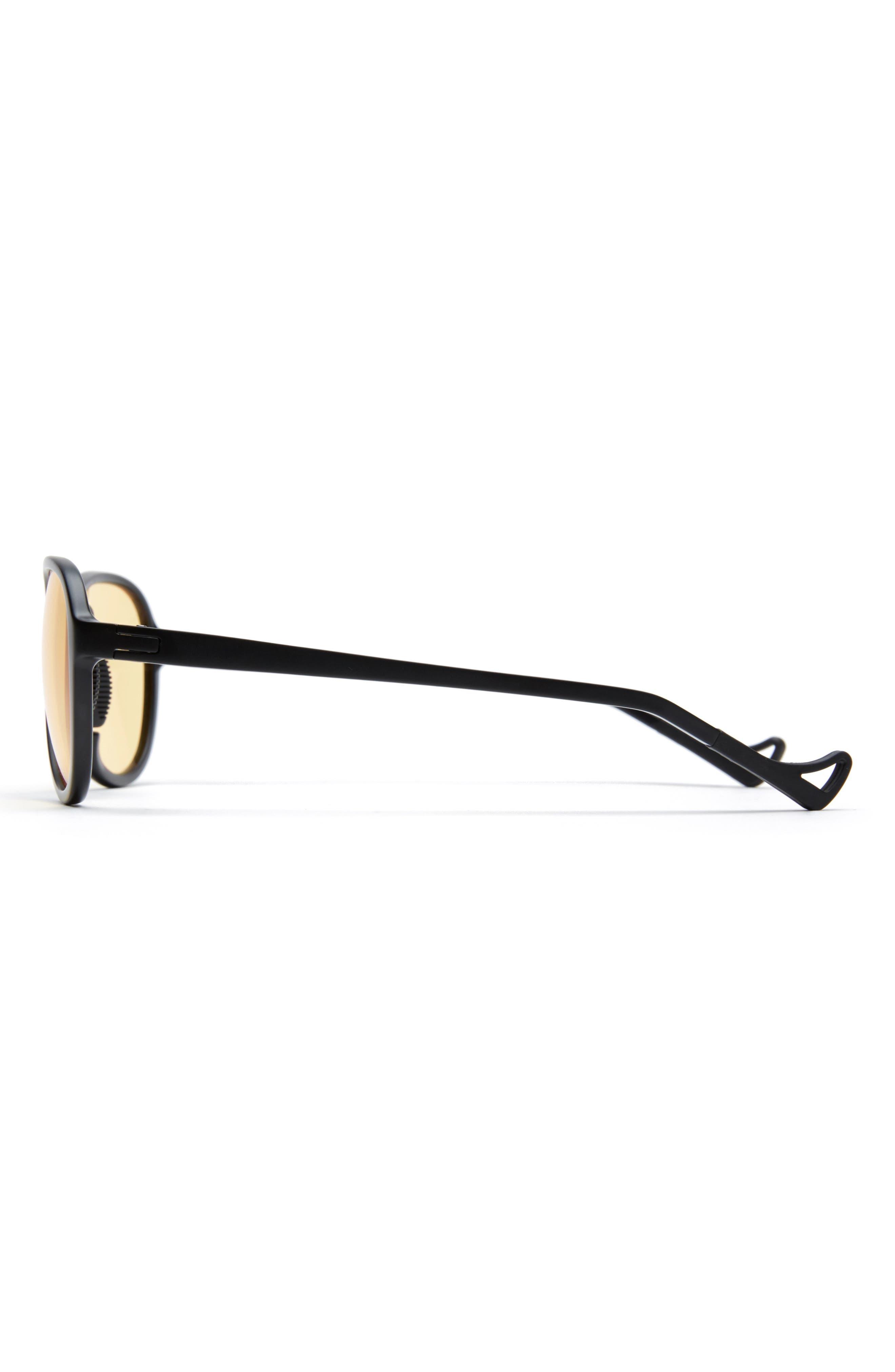Kaishiro 51mm Sunglasses,                             Main thumbnail 1, color,                             BLACK/ YELLOW