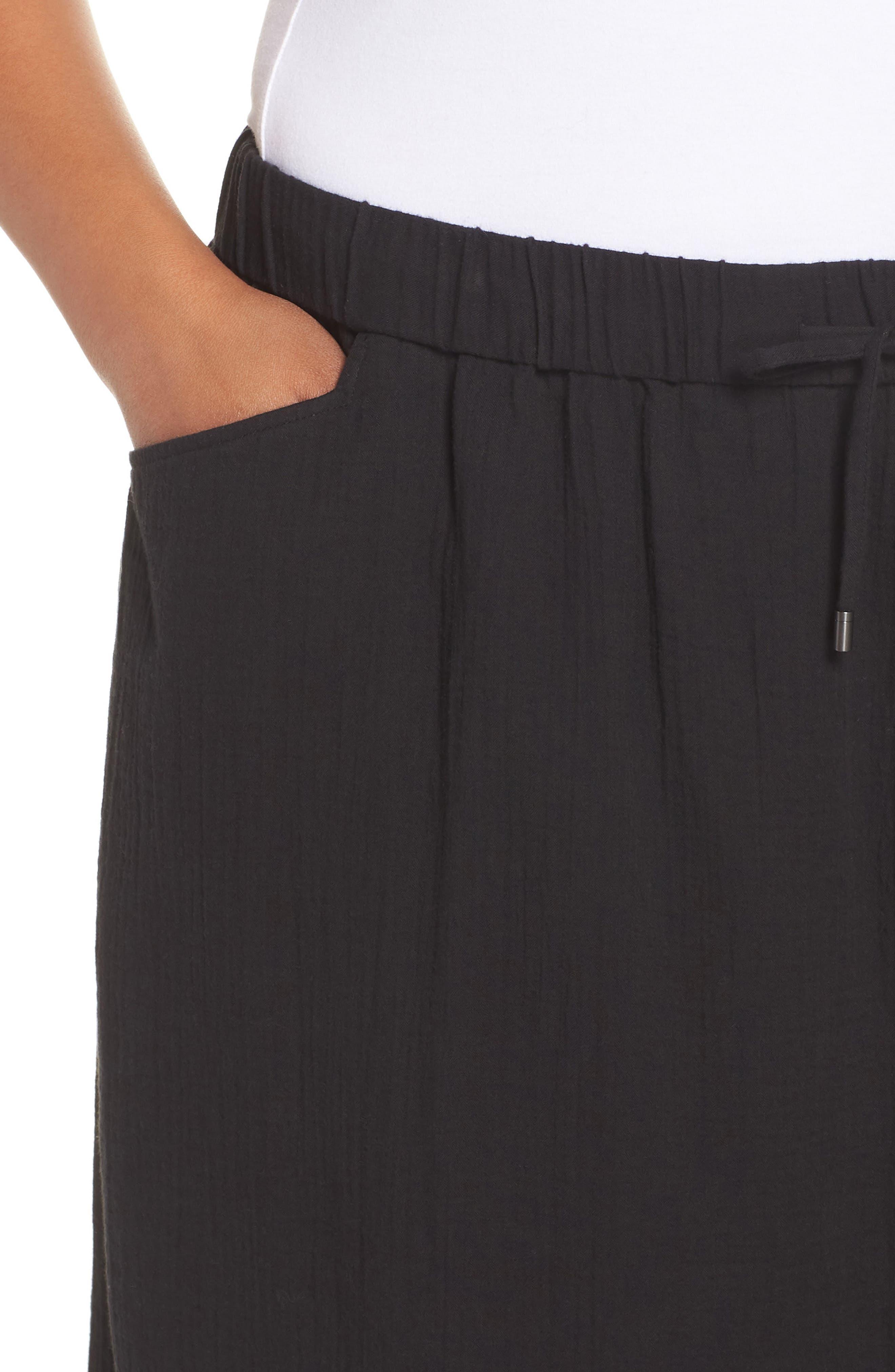 Drawstring Maxi Skirt,                             Alternate thumbnail 4, color,                             001
