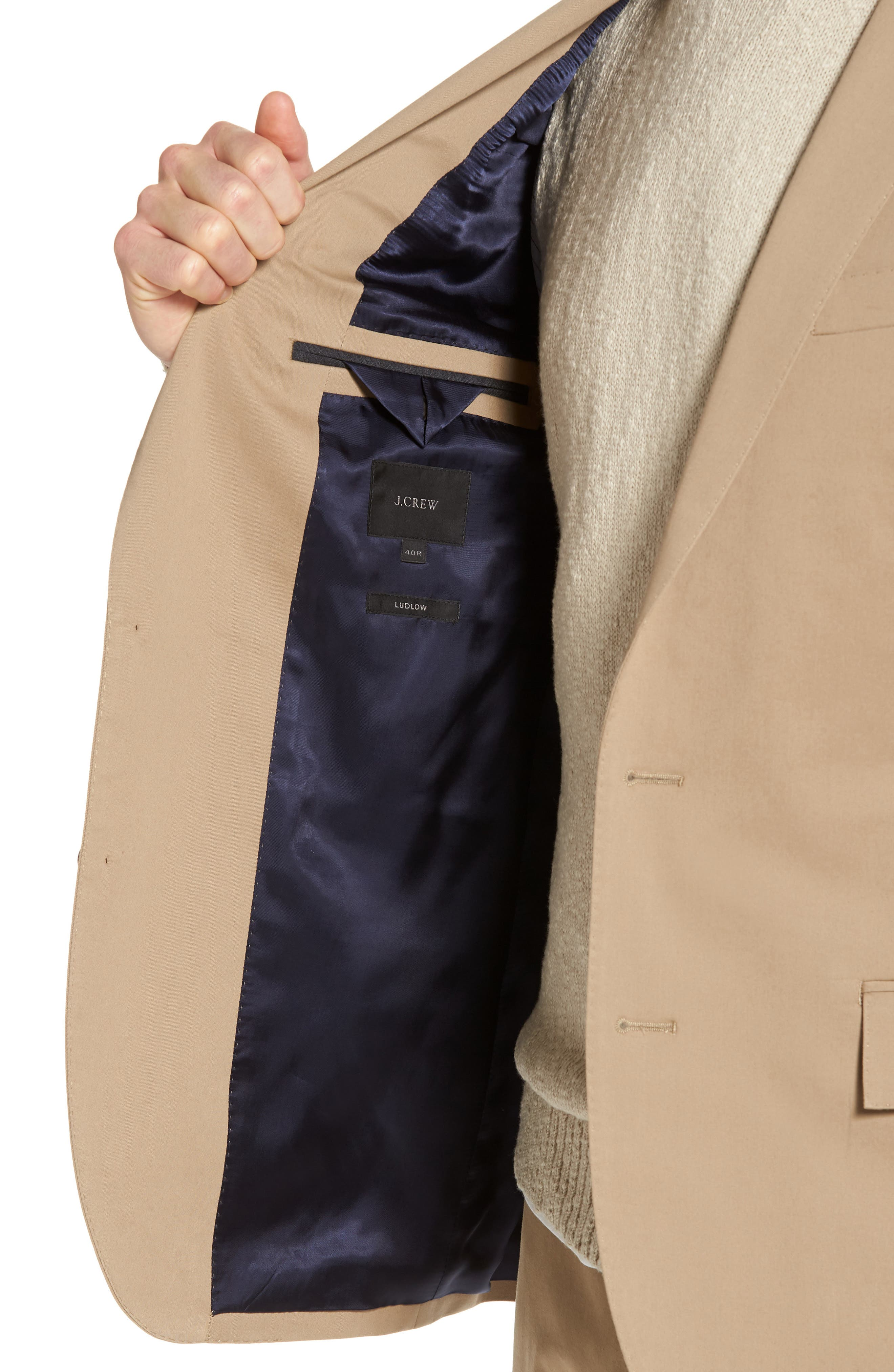 Ludlow Stretch Chino Blazer,                             Alternate thumbnail 4, color,                             251