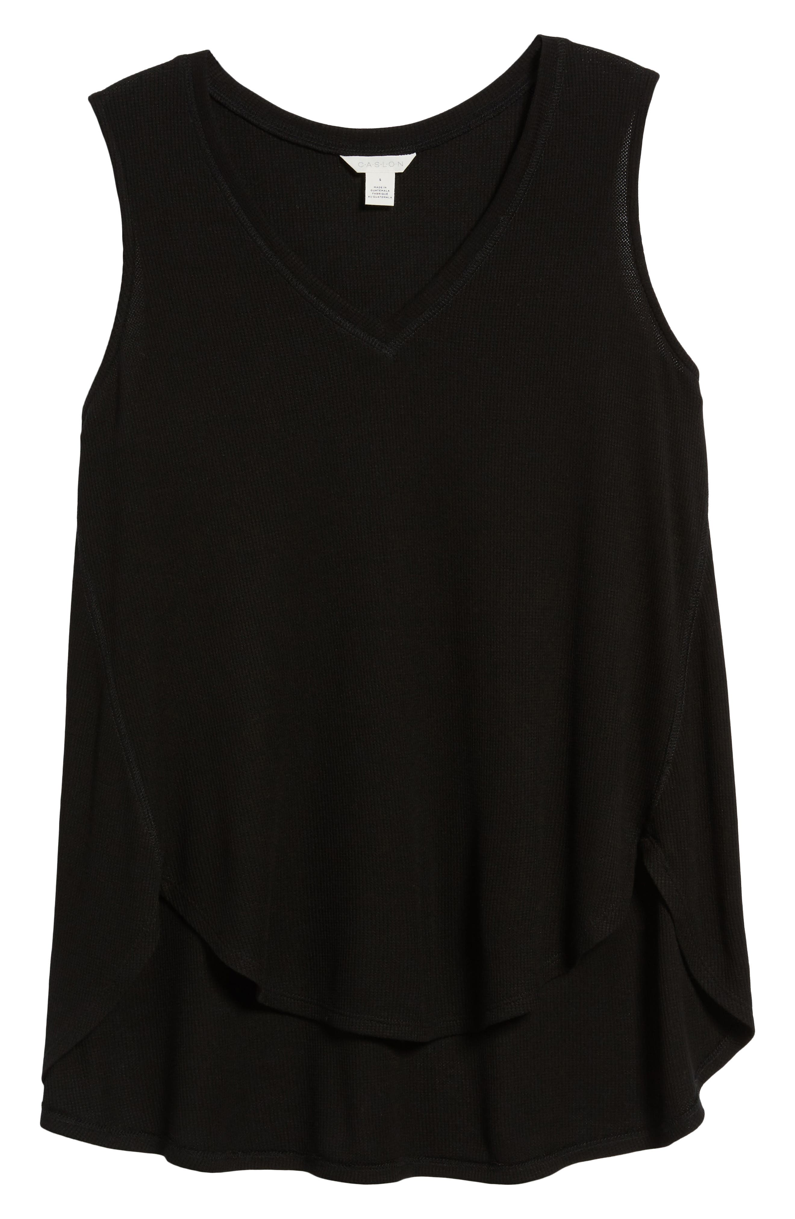 Waffle Weave Swing Tank,                             Alternate thumbnail 7, color,                             001