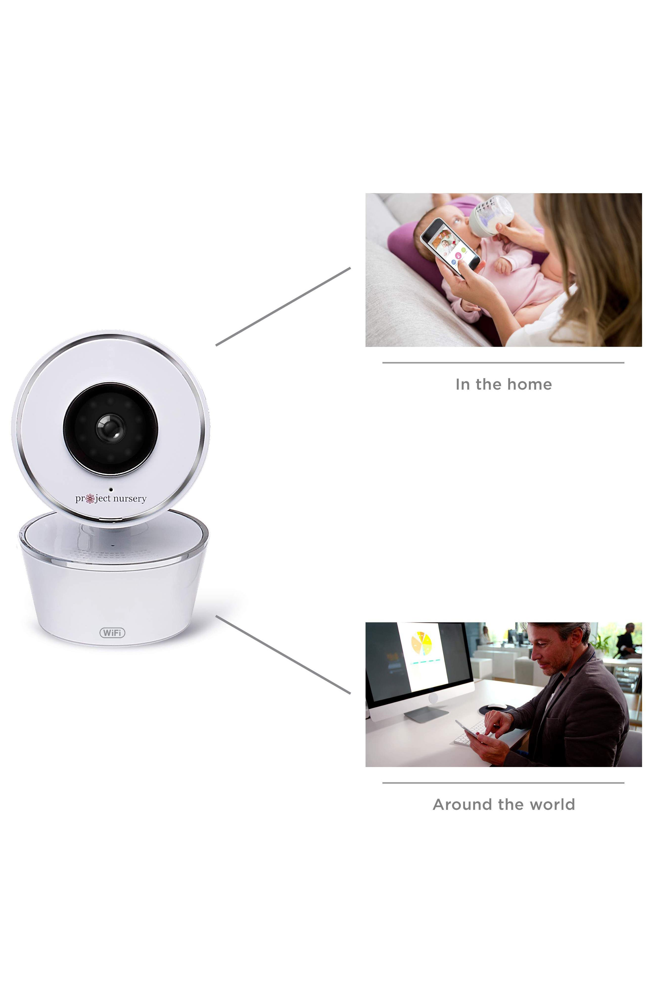 Smart Nursery Wi-Fi Baby Monitor,                             Alternate thumbnail 3, color,                             WHITE