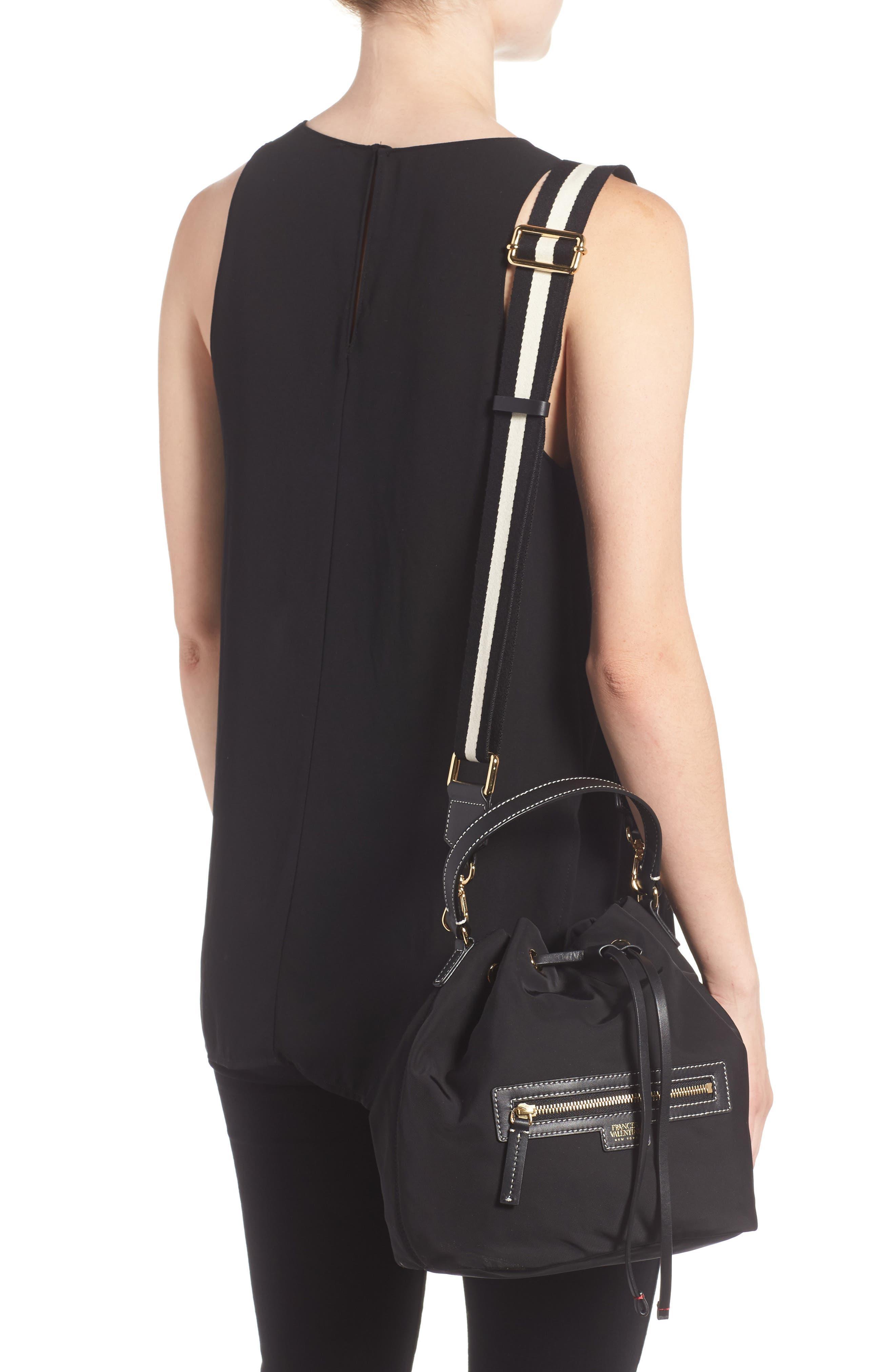 Medium Ann Nylon Bucket Bag,                             Alternate thumbnail 2, color,                             001