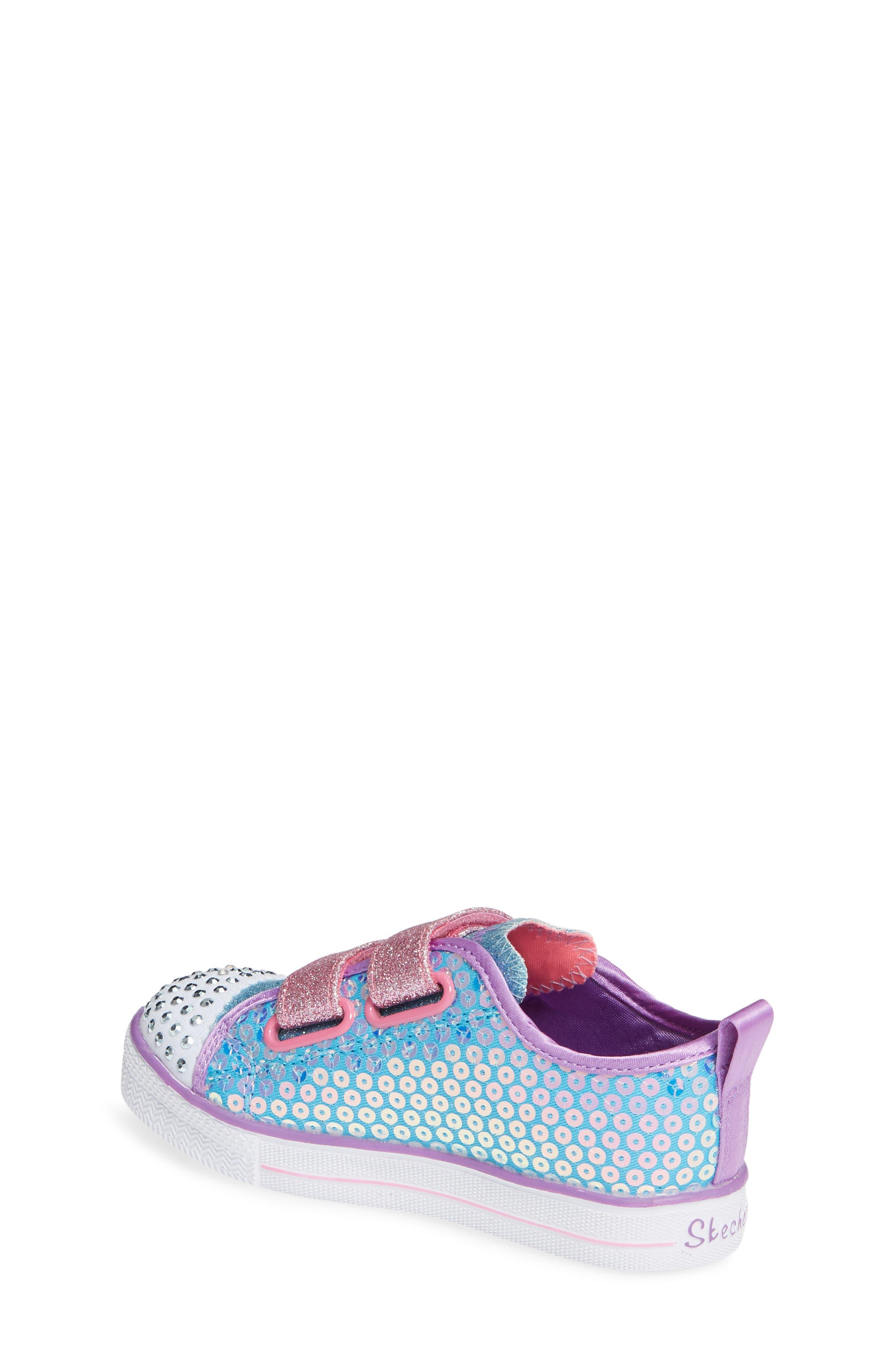 Shuffle Lite Glitter Sneaker,                             Alternate thumbnail 2, color,                             TURQUOISE/MULTI