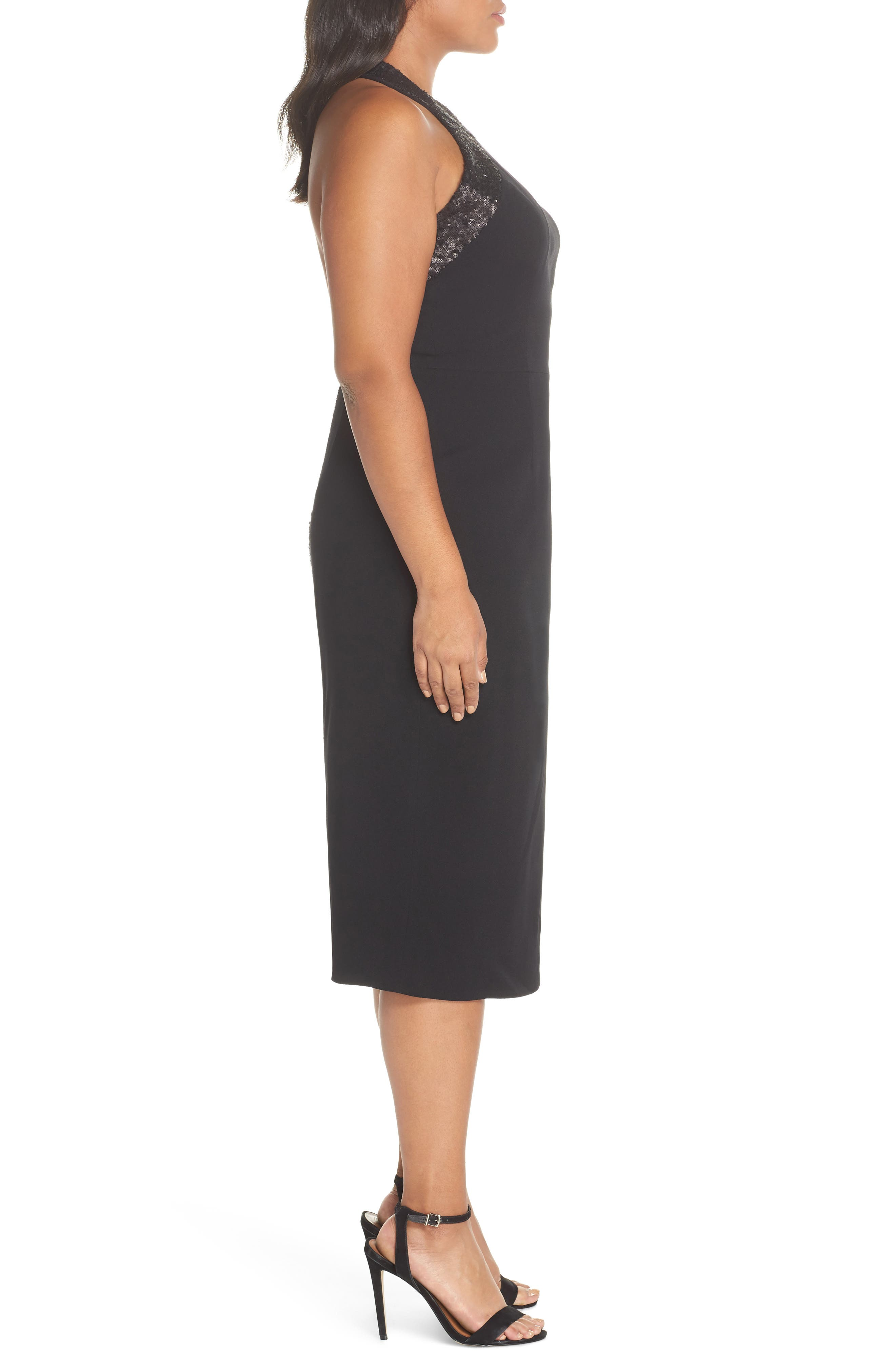 Cleo Halter Dress,                             Alternate thumbnail 8, color,                             BLACK/ BLACK