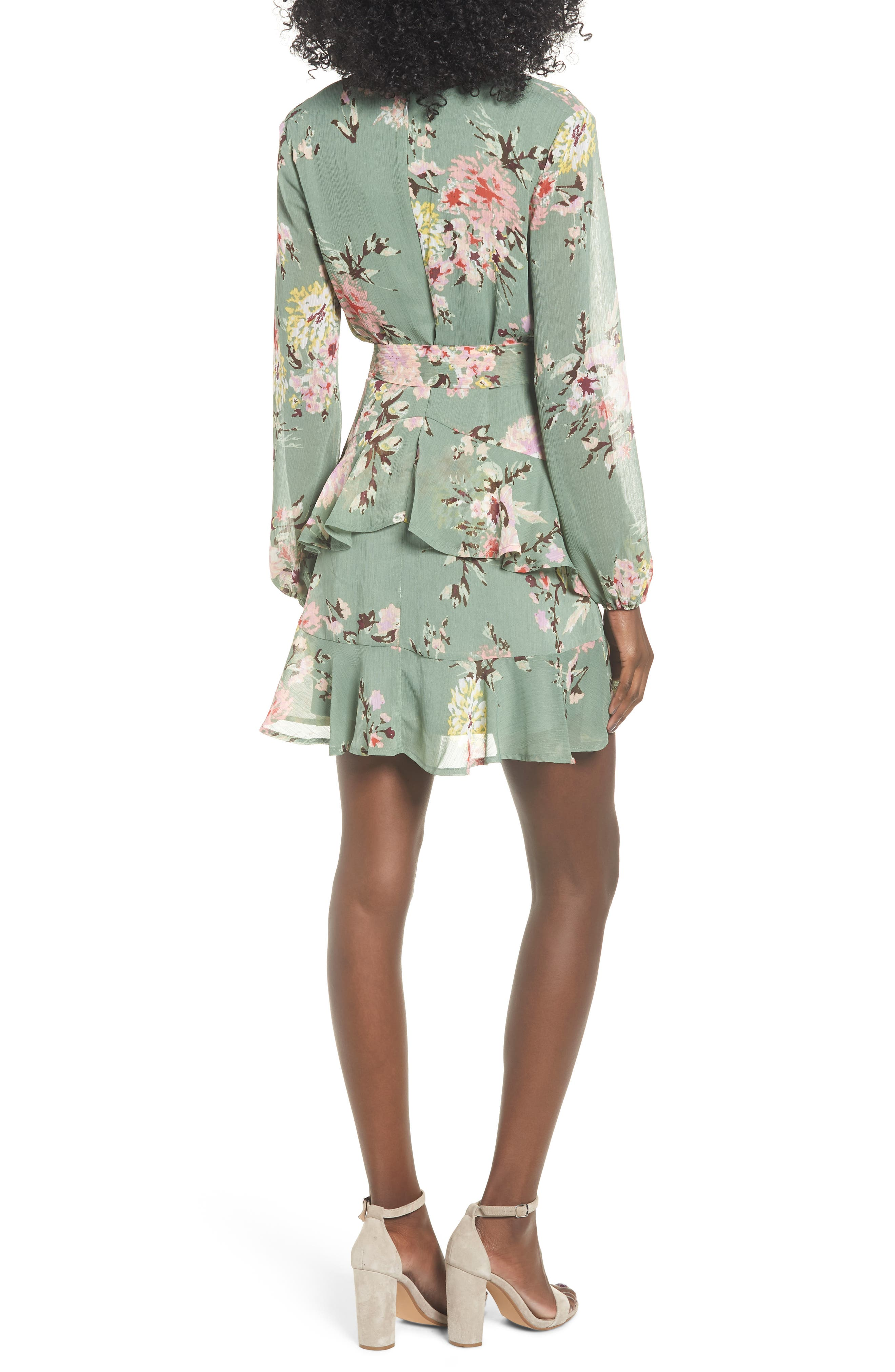 Tiered Wrap Dress,                             Alternate thumbnail 2, color,                             364