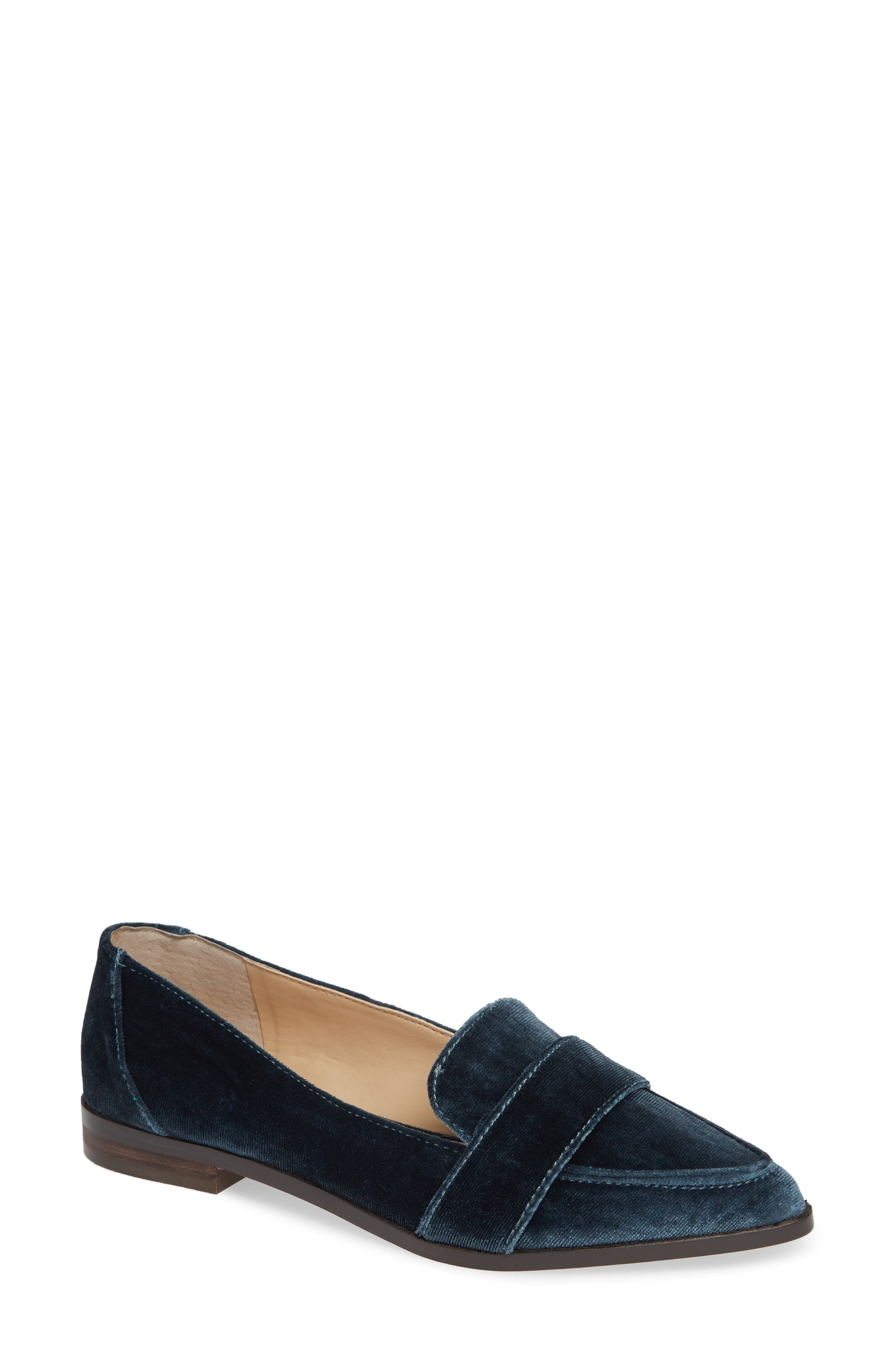 Edie Pointy Toe Loafer,                         Main,                         color,