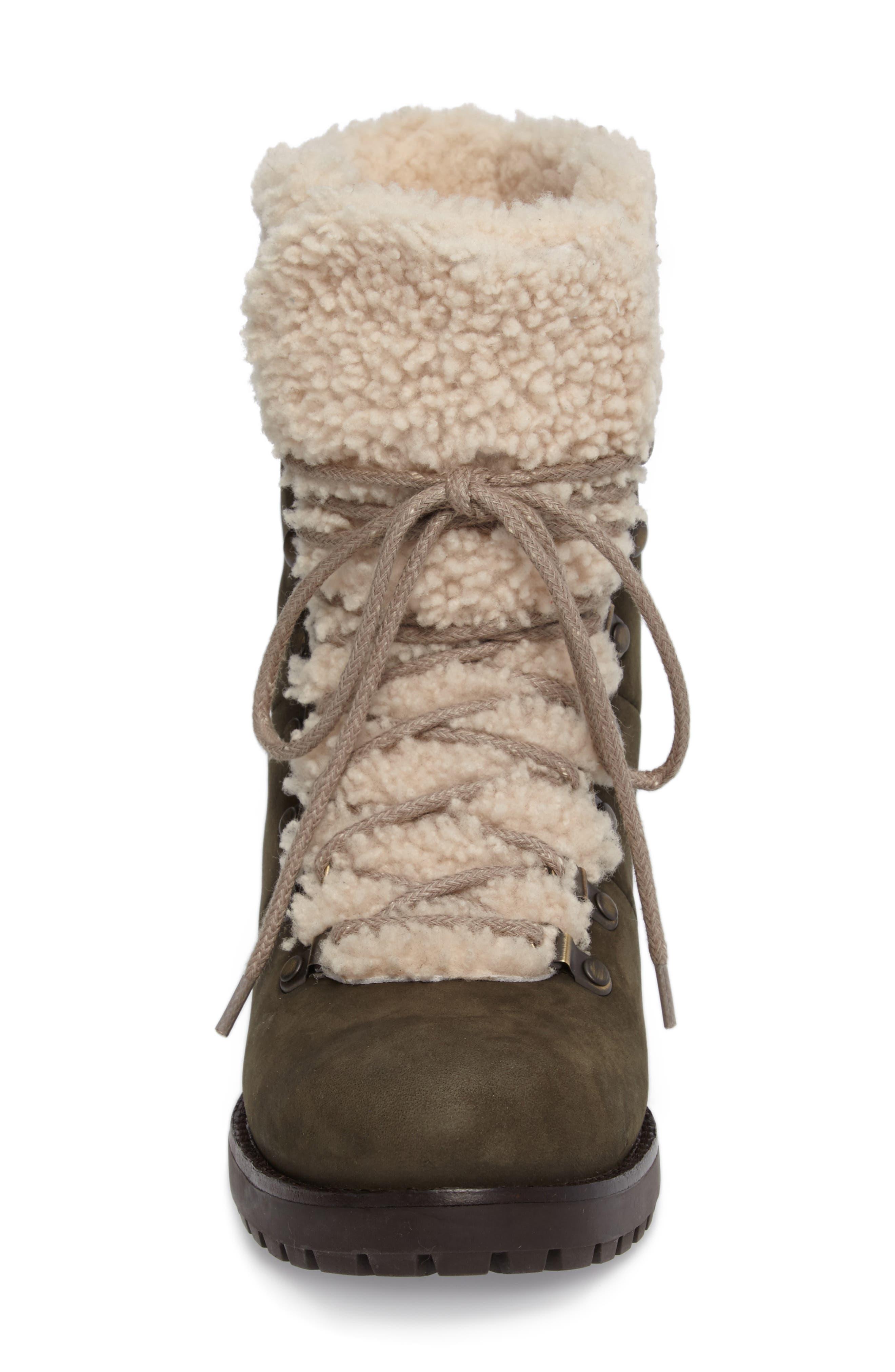 Fraser Genuine Shearling Water Resistant Boot,                             Alternate thumbnail 14, color,