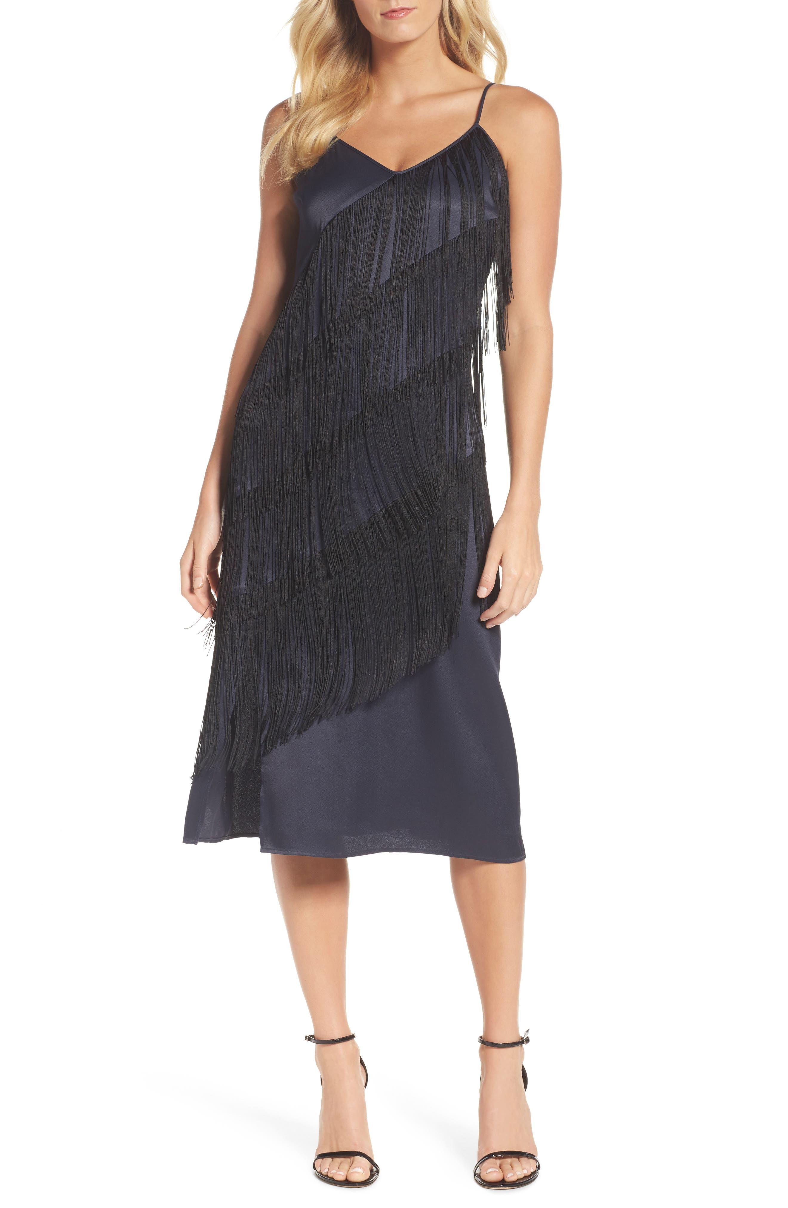 Fringed Up Midi Dress,                             Main thumbnail 1, color,                             490