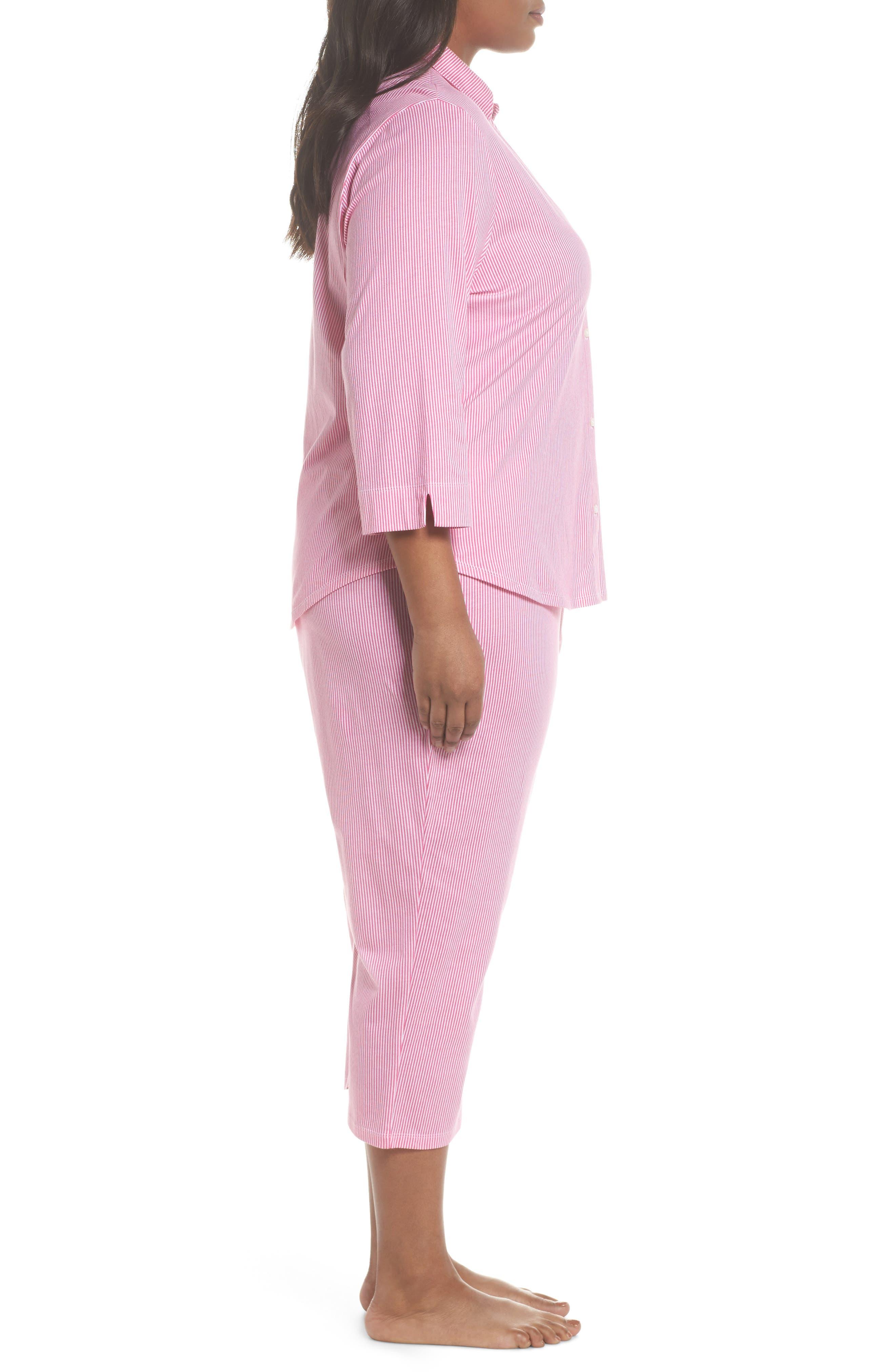 Crop Pajamas,                             Alternate thumbnail 3, color,