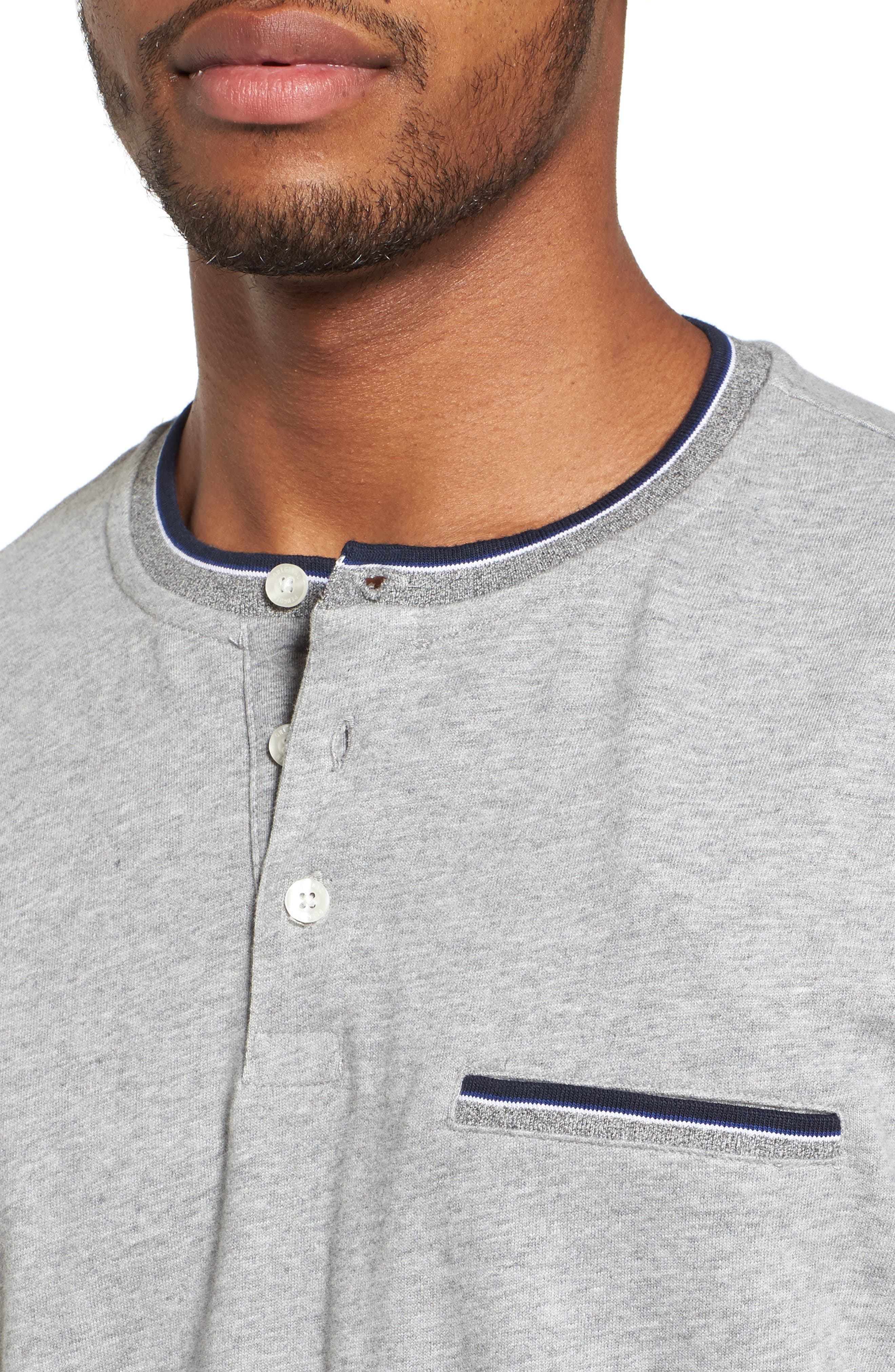 Sueded Tipped Henley,                             Alternate thumbnail 4, color,                             055