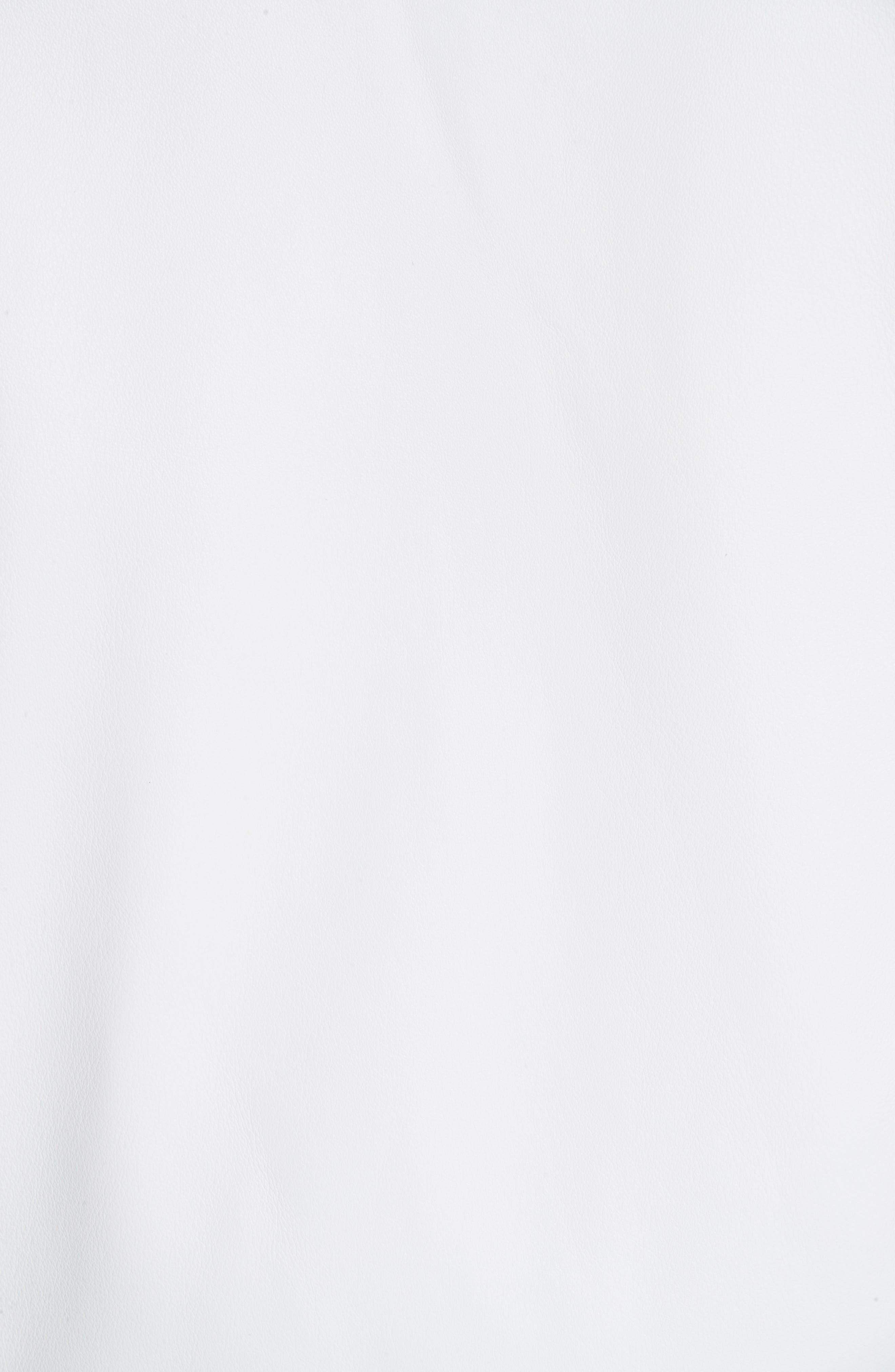 Sleeveless Zip Leather Vest,                             Alternate thumbnail 6, color,                             WHITE