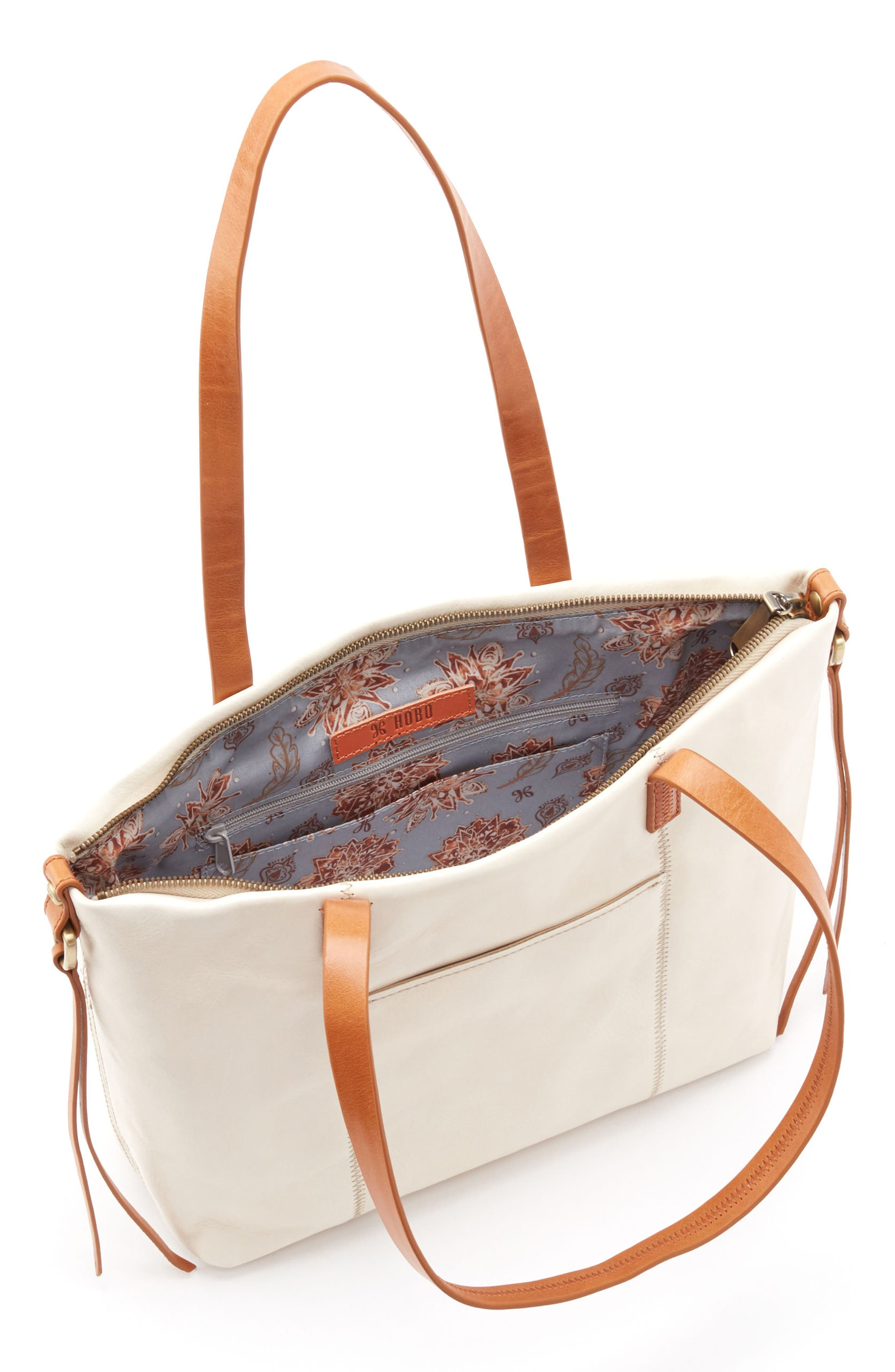 Cecily Leather Tote,                             Alternate thumbnail 10, color,