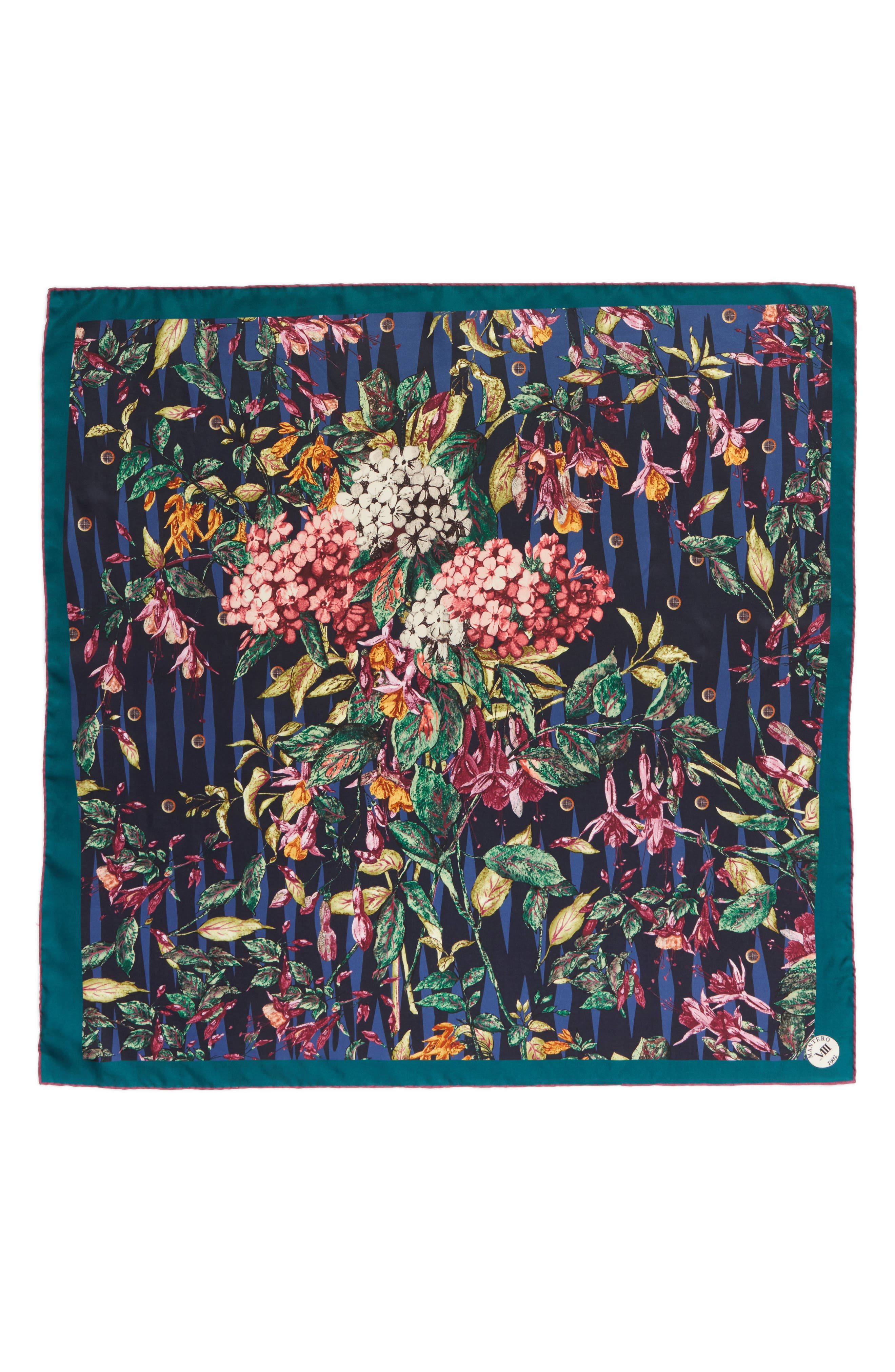 Tra le Righe Square Silk Scarf,                             Main thumbnail 1, color,                             400