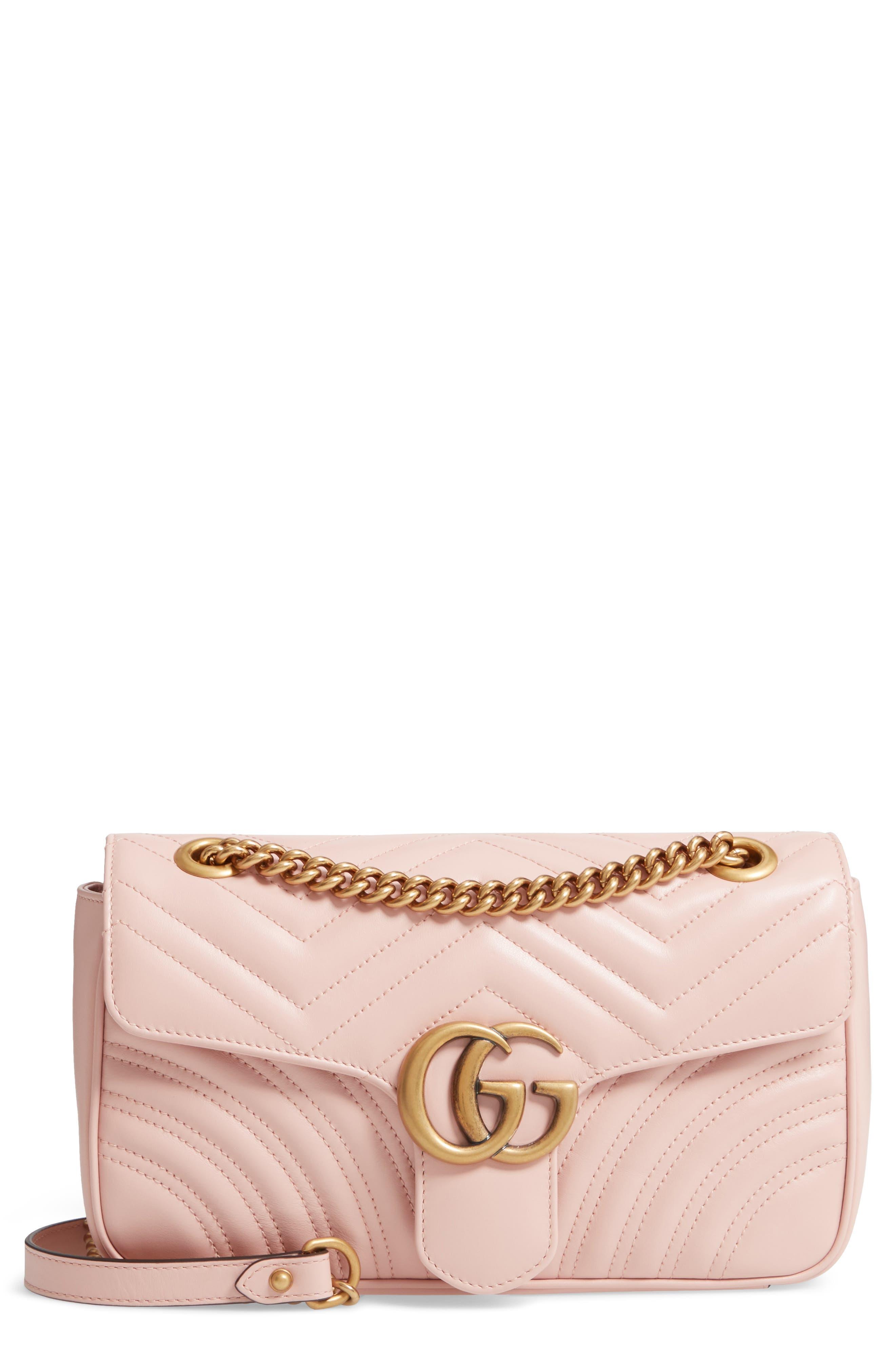 Small GG Marmont 2.0 Matelassé Leather Shoulder Bag,                             Main thumbnail 5, color,