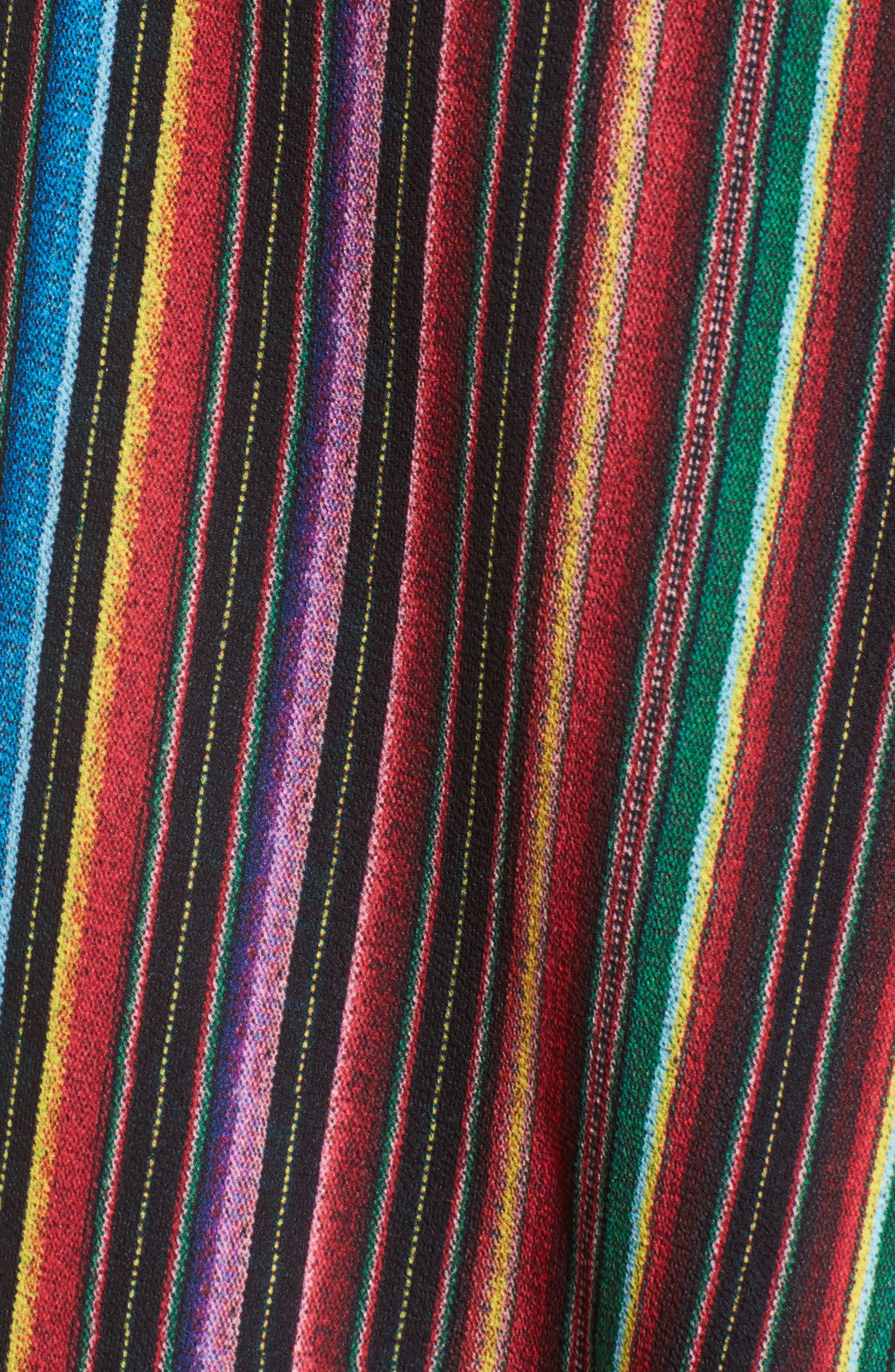 Panama Tassel Wrap Skirt,                             Alternate thumbnail 5, color,                             001