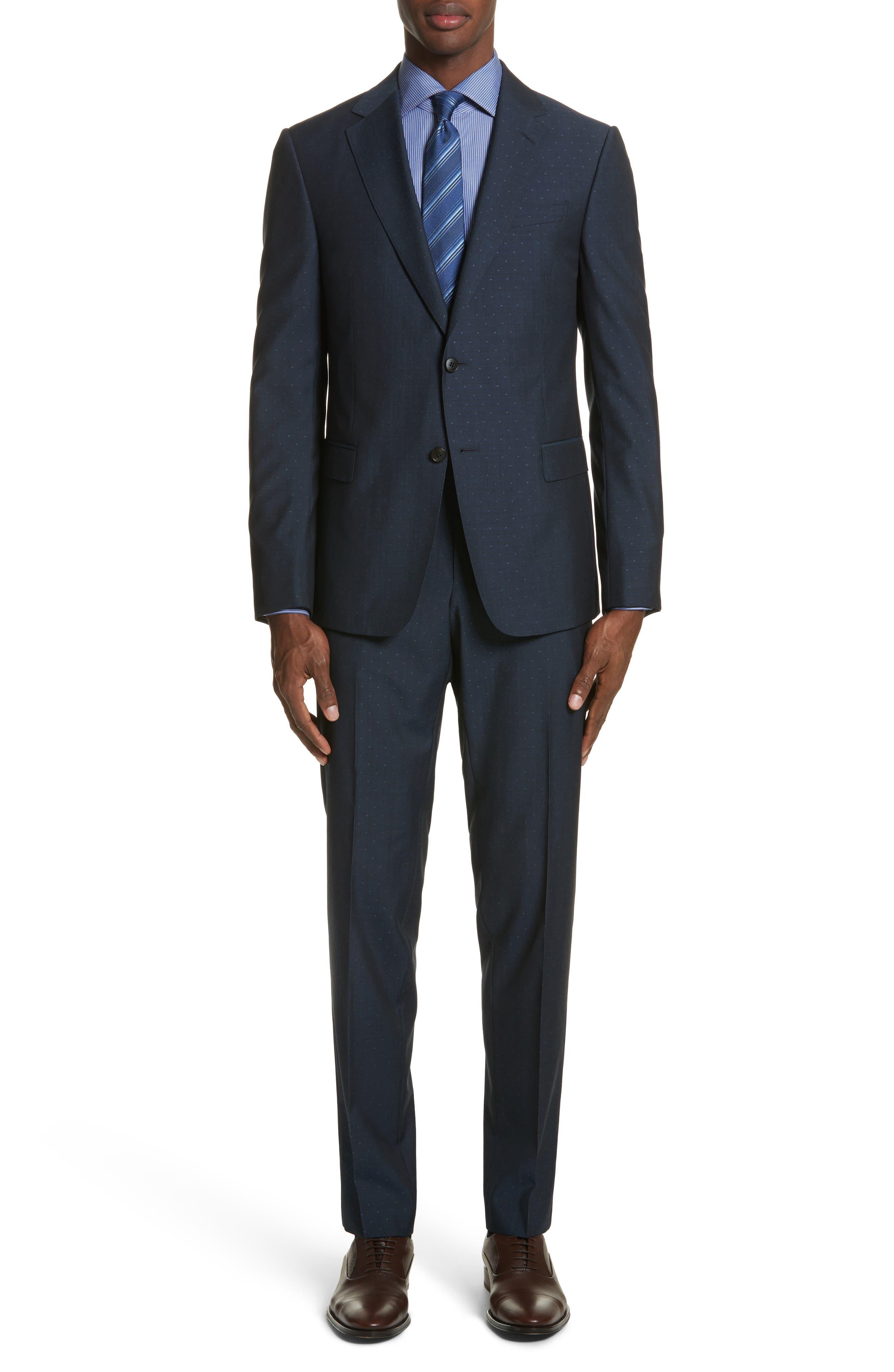 Classic Fit Dot Wool Suit,                         Main,                         color, 416