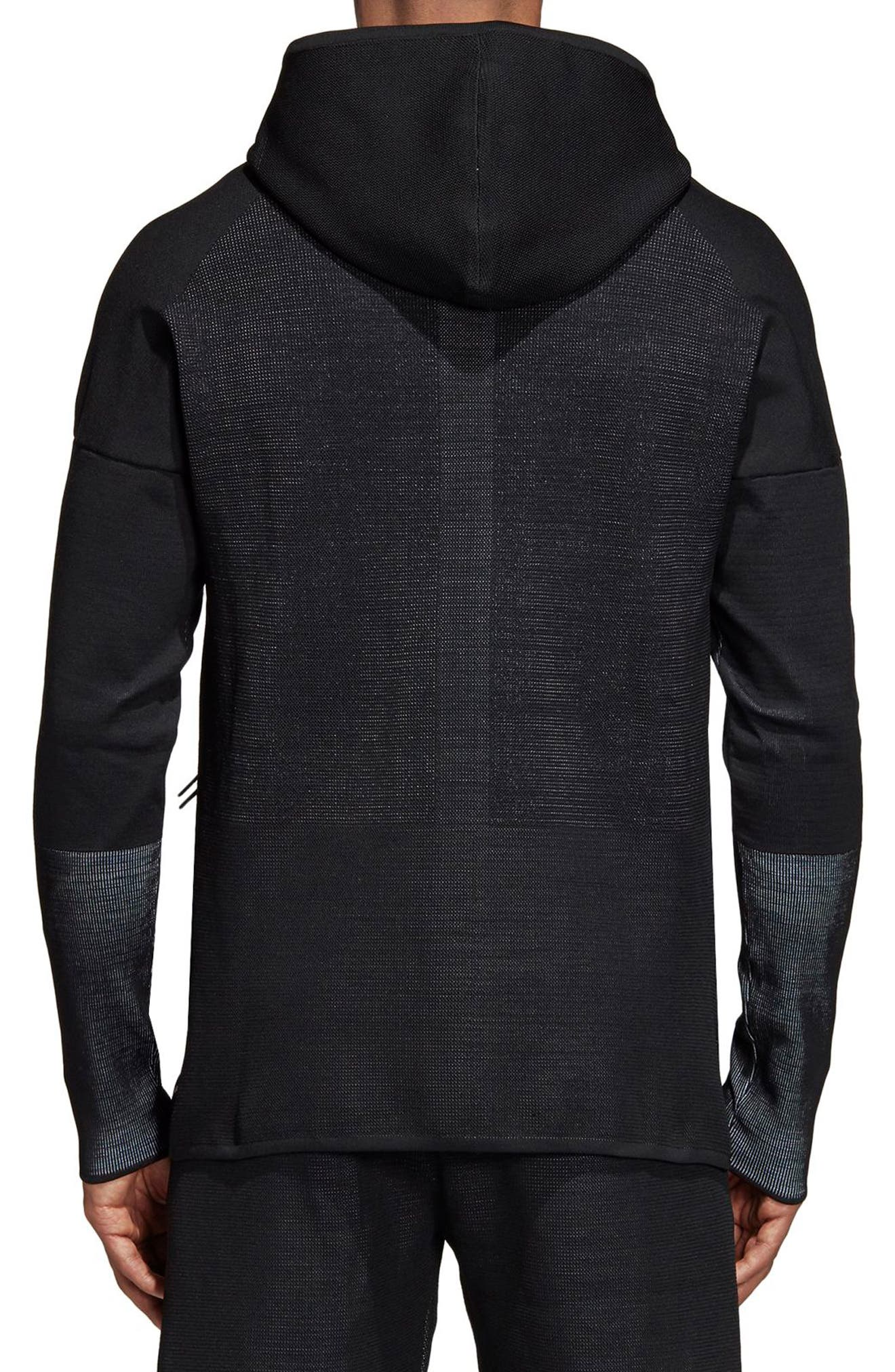 ZNE Parley Primeknit Hoodie,                             Alternate thumbnail 2, color,                             001