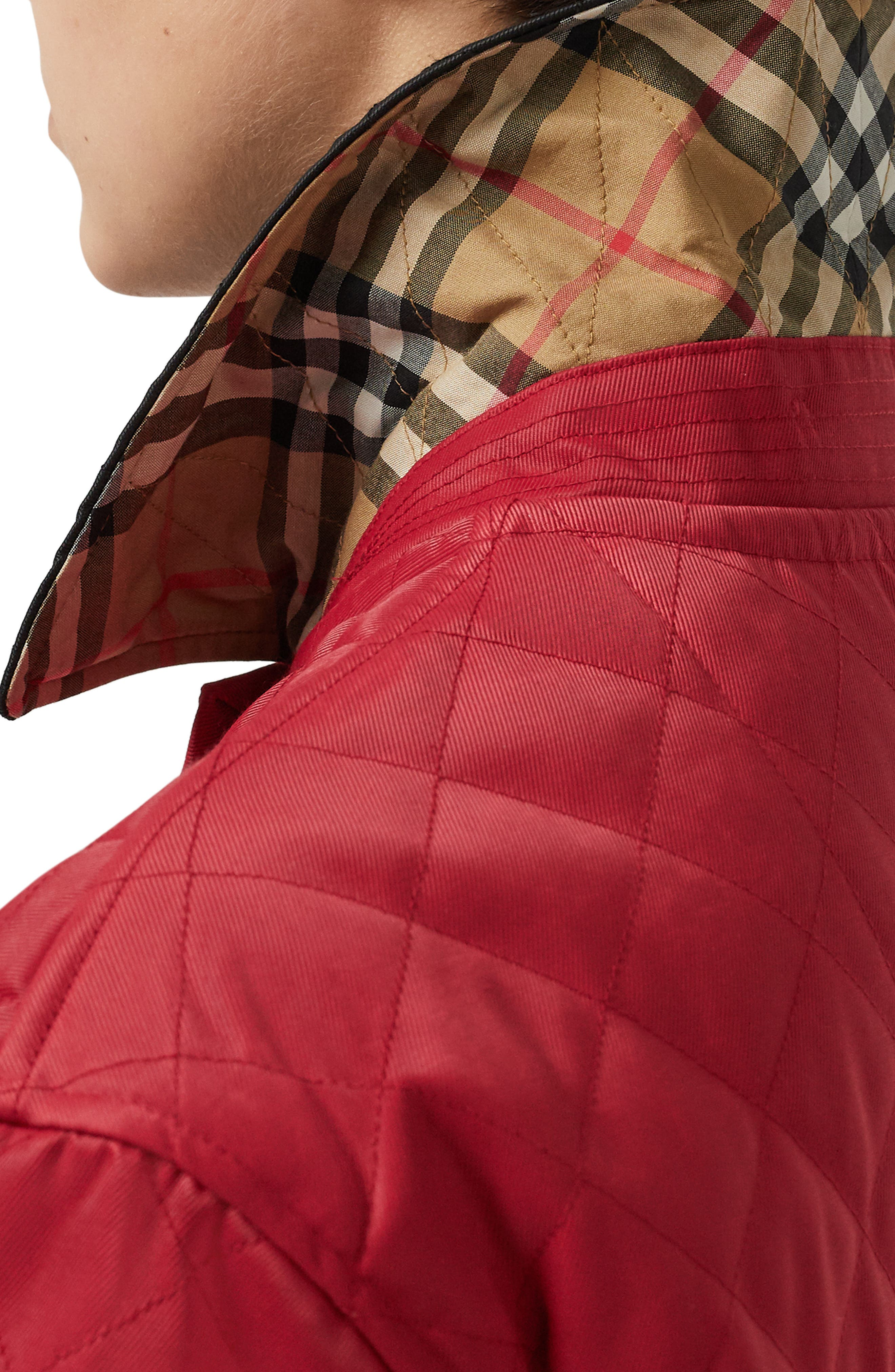 Dranefeld Quilted Jacket,                             Alternate thumbnail 3, color,                             RED