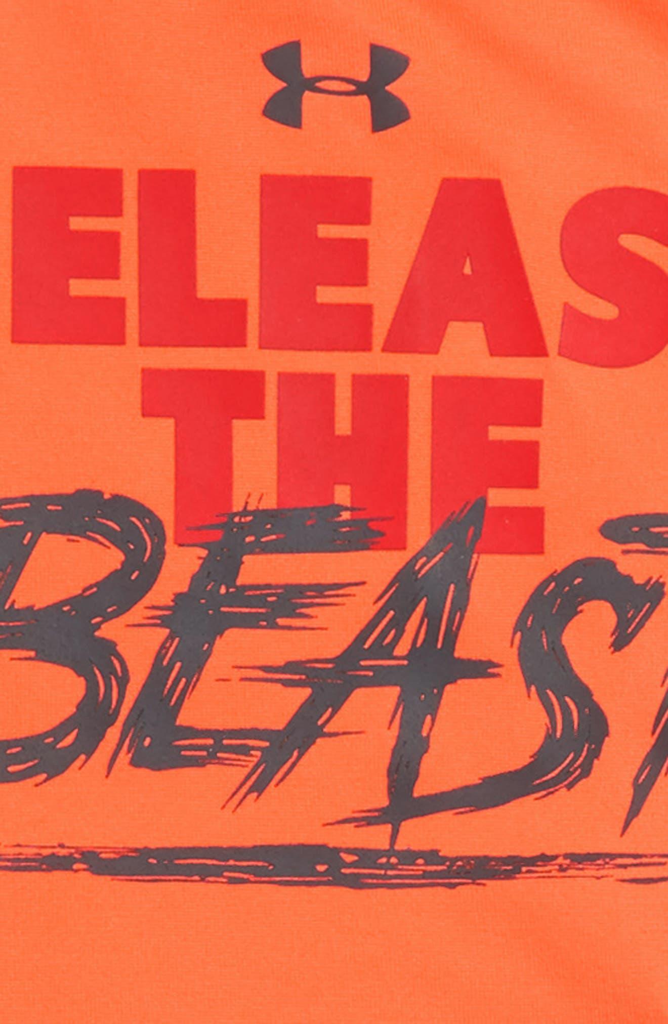 Release the Beast Bodysuit & Leggings Set,                             Alternate thumbnail 2, color,                             MAGMA ORANGE