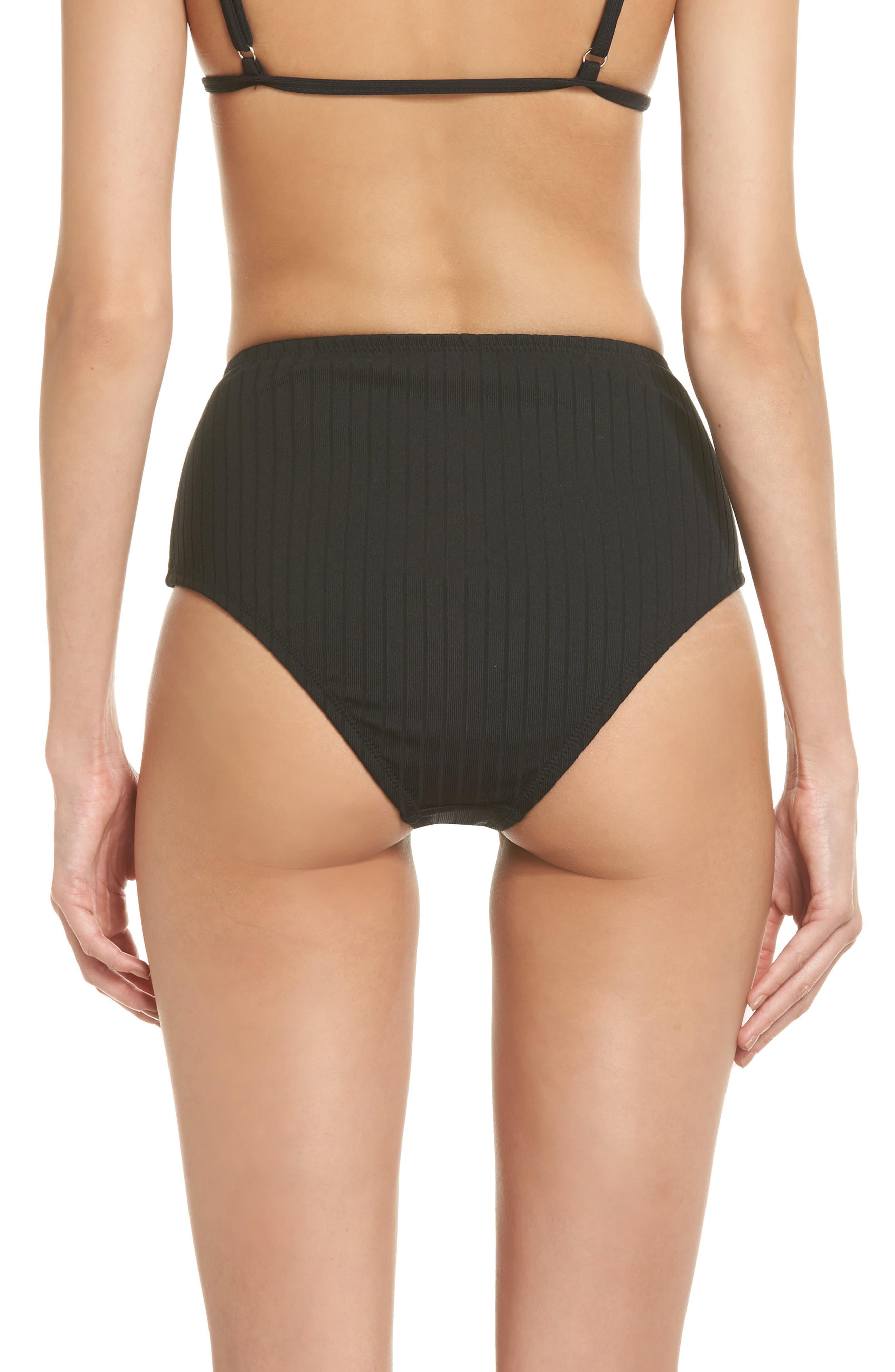 Westwood High Waist Bikini Bottoms,                             Alternate thumbnail 2, color,                             001