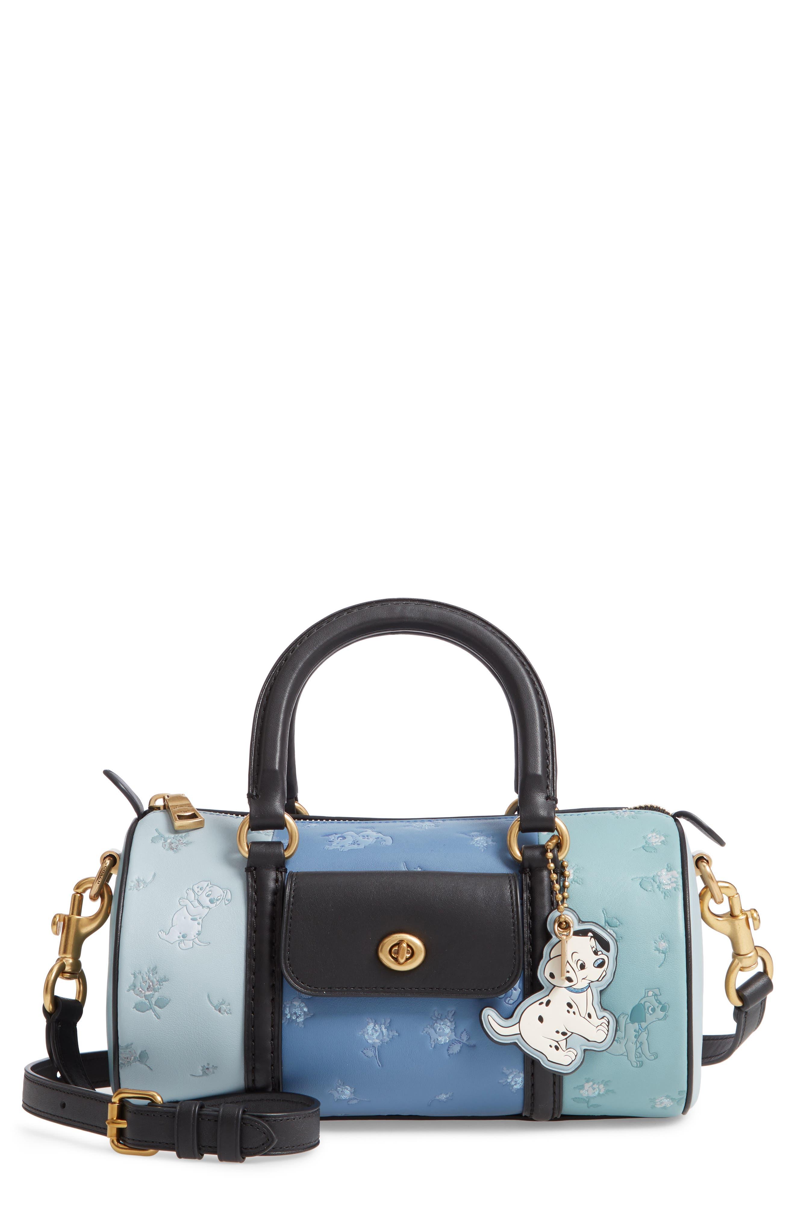 Disney x COACH 101 Dalmatians Leather Barrel Bag, Main, color, 402