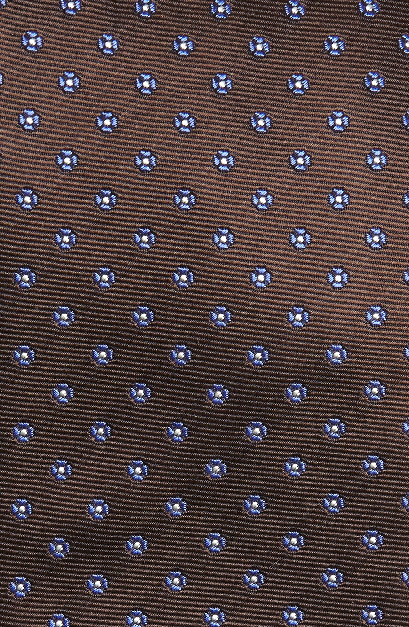 Dot Silk Tie,                             Alternate thumbnail 2, color,                             BROWN