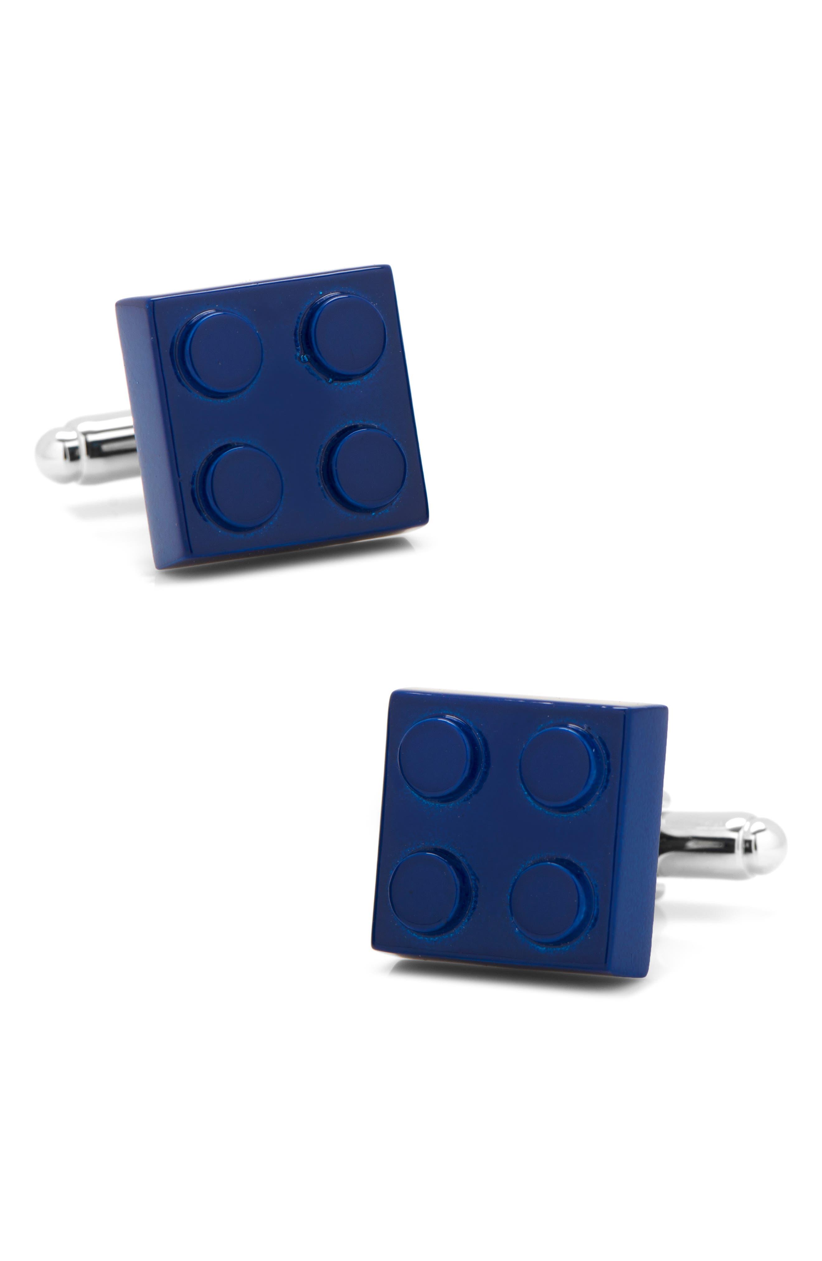 Building Block Cuff Links,                         Main,                         color, BLUE