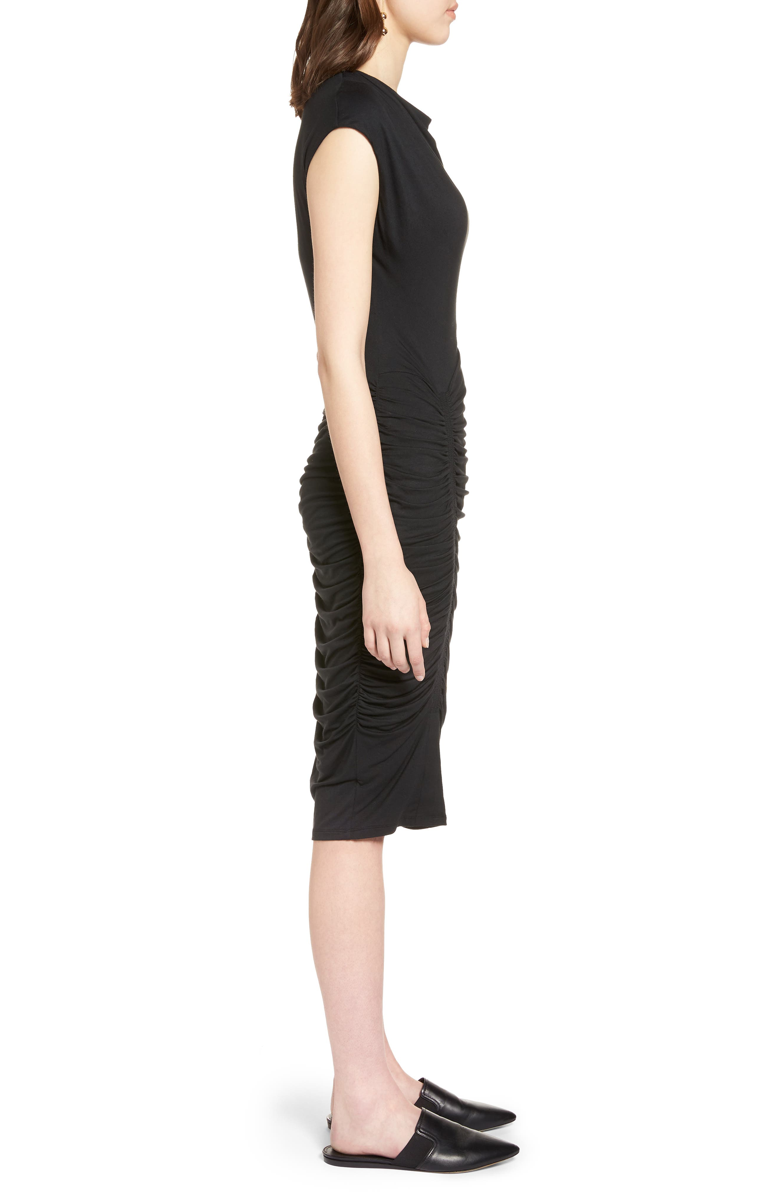 Ruched Detail Sheath Dress,                             Alternate thumbnail 7, color,