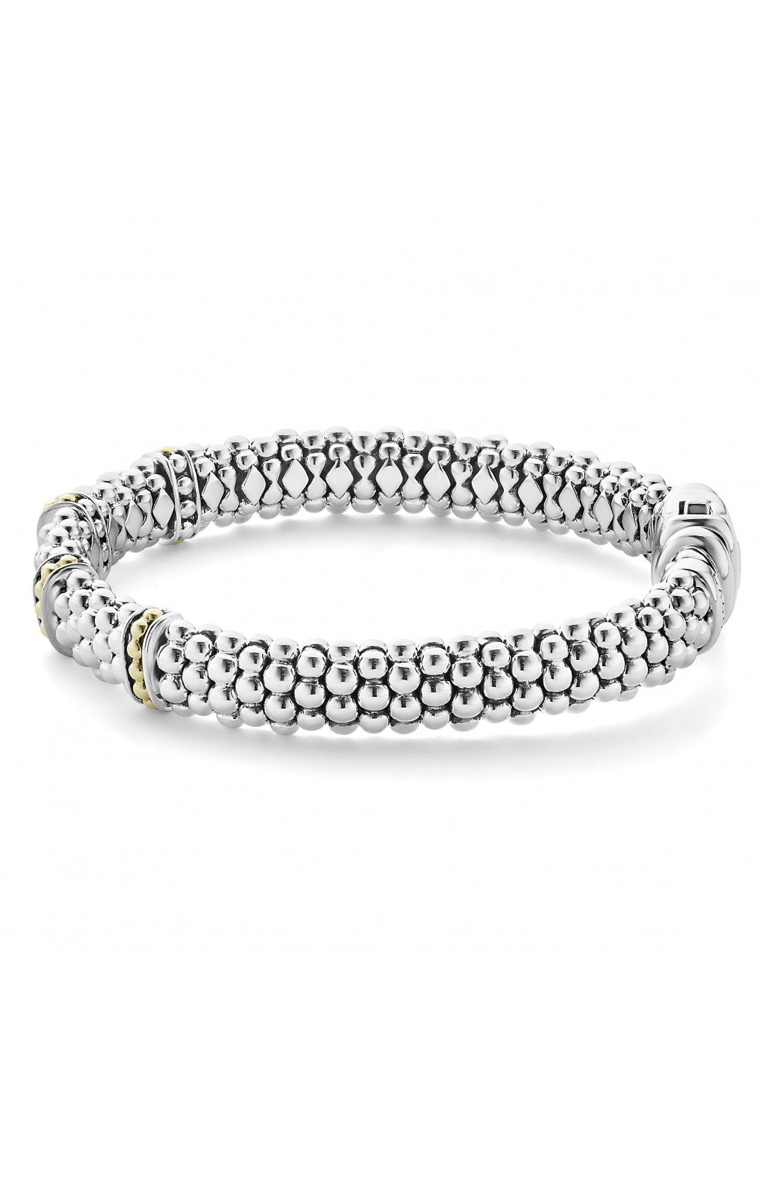 'Enso' Two-Tone Rope Caviar<sup>™</sup> Bracelet,                             Alternate thumbnail 4, color,                             SILVER/ GOLD