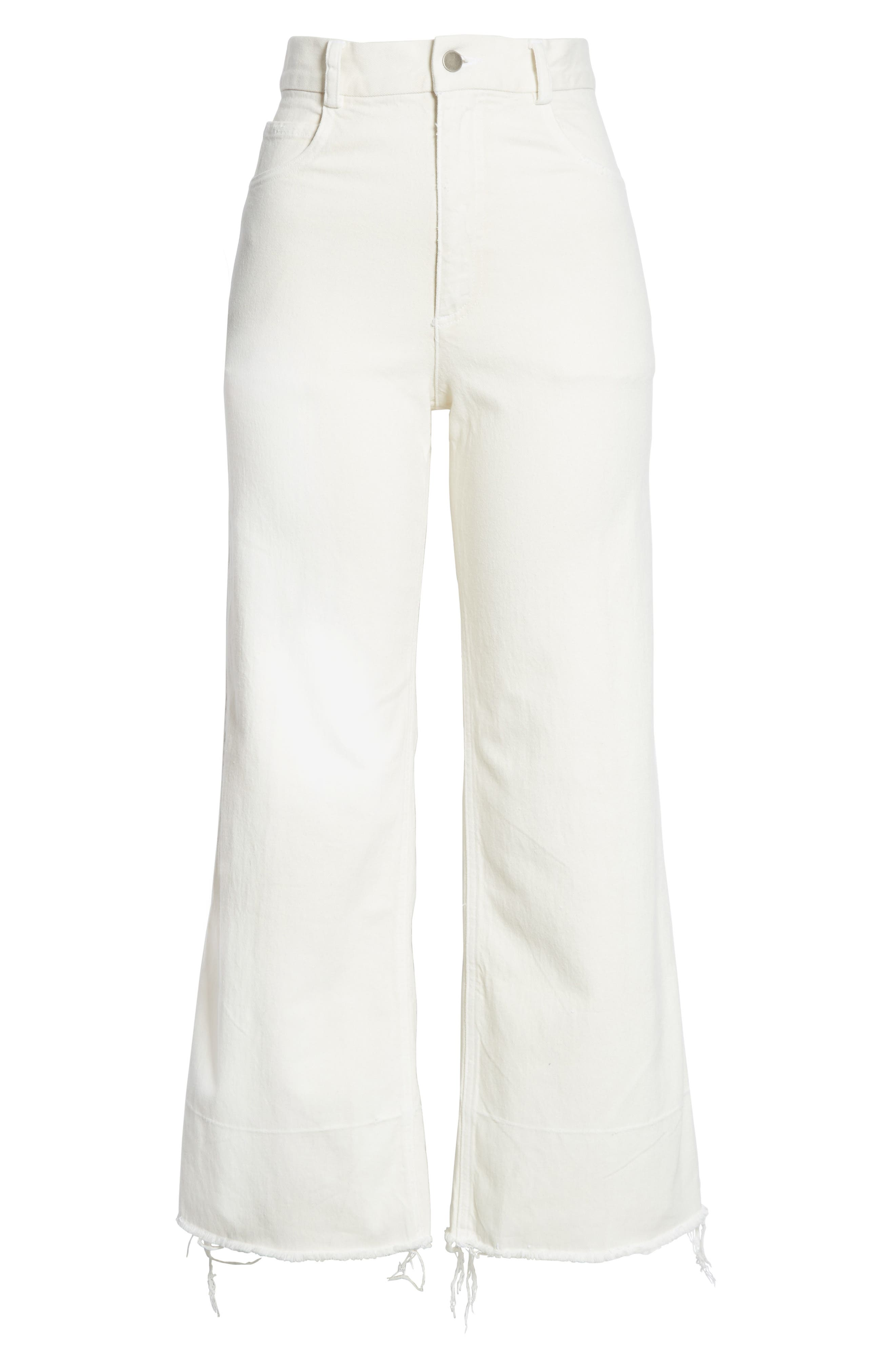 Rachey Comey Legion Crop Wide Leg Pants,                             Alternate thumbnail 6, color,                             DIRTY WHITE