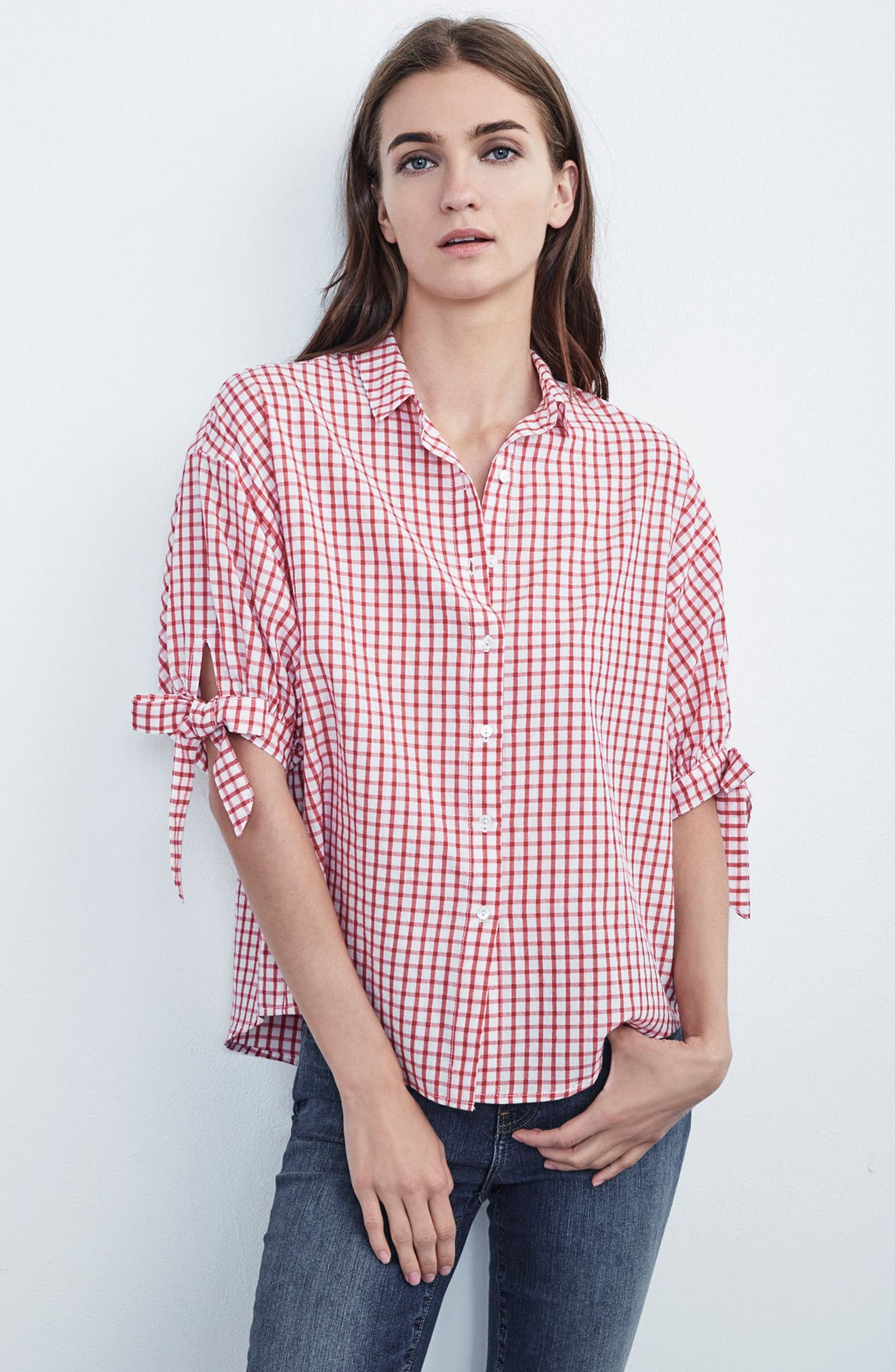 Check Button-Down Shirt,                             Alternate thumbnail 7, color,