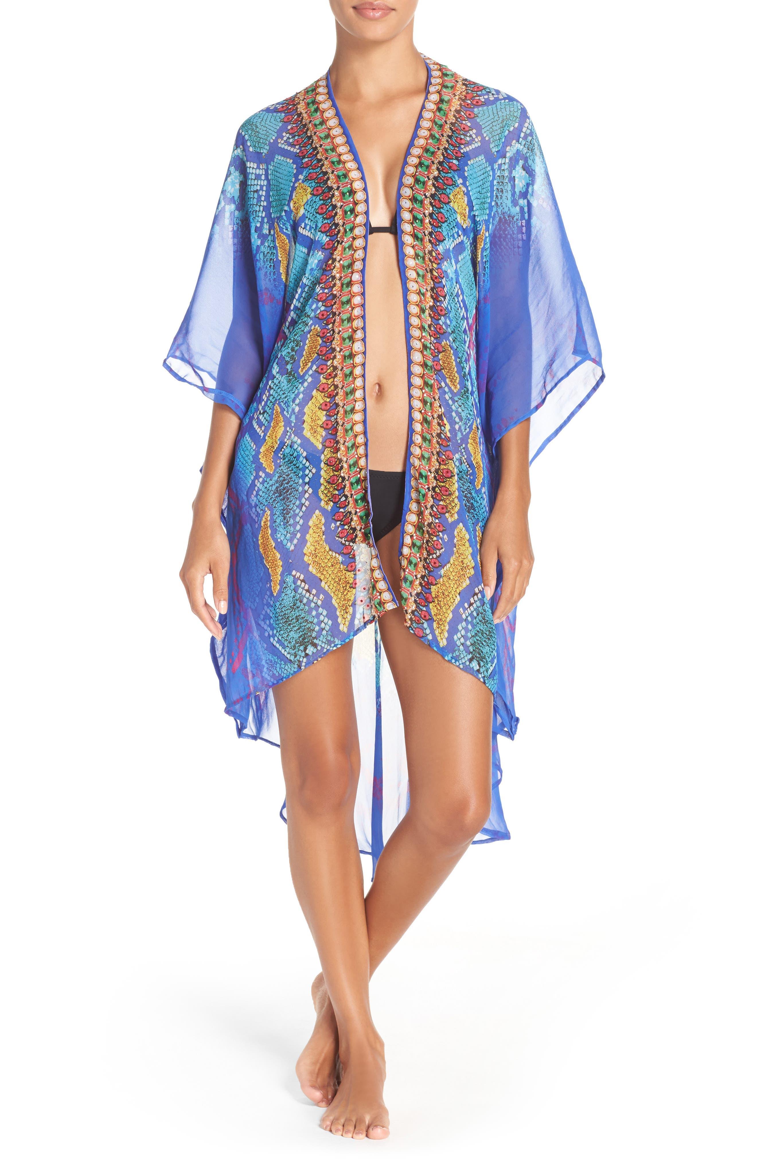 'Bahamas' Kimono,                             Main thumbnail 1, color,                             BLUE MULTI