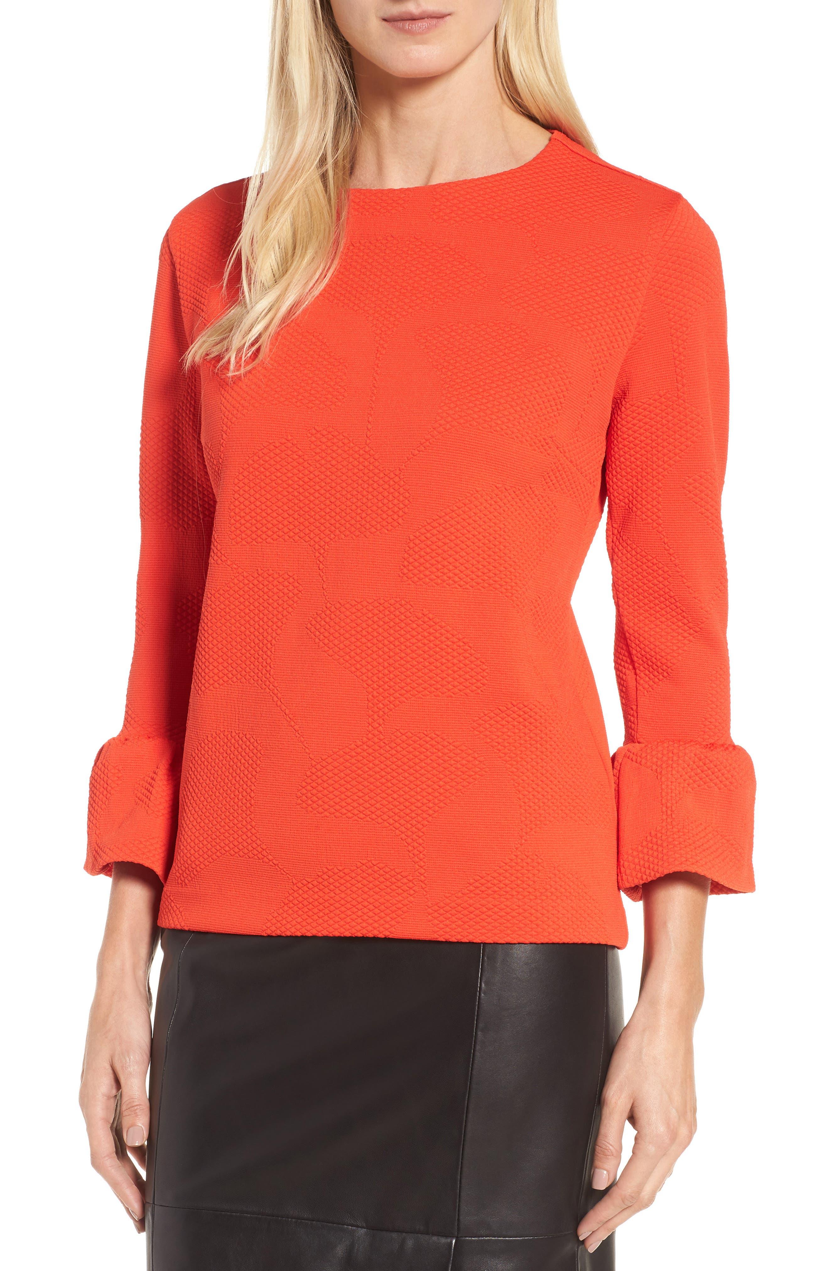Jacquard Knit Top,                         Main,                         color,