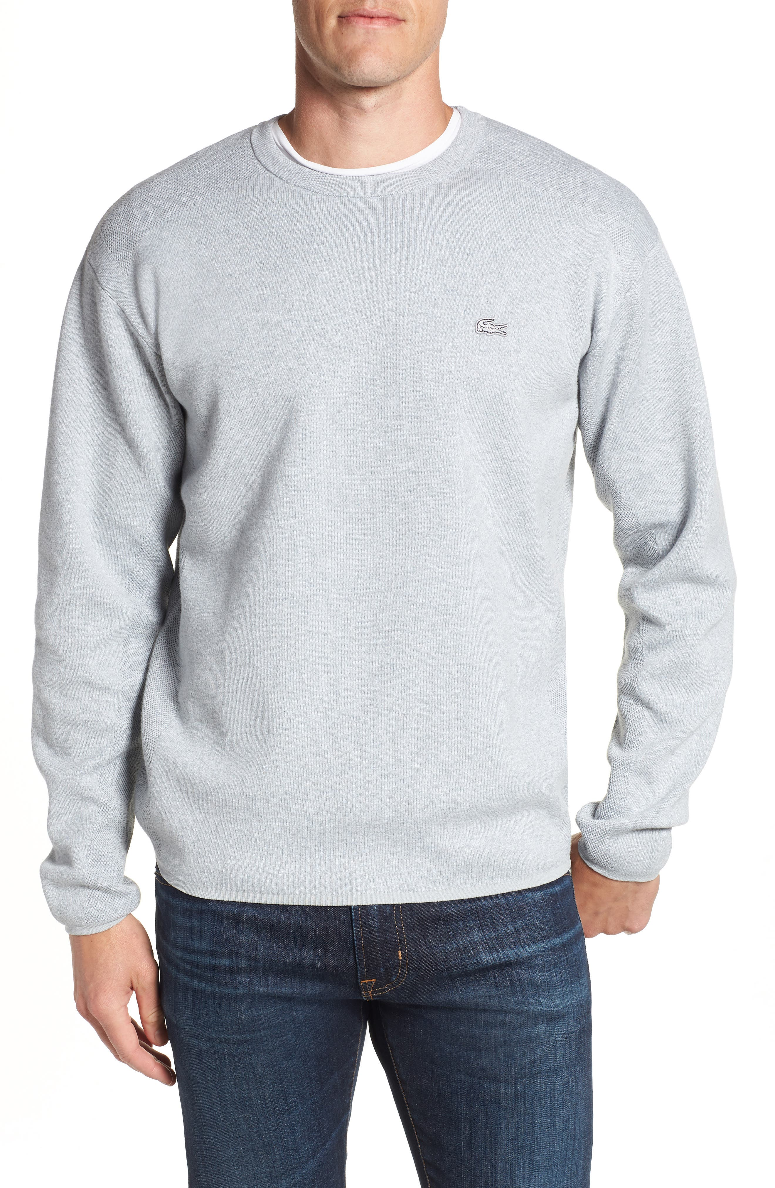 Textured Stitch Crewneck Sweater,                         Main,                         color, 057
