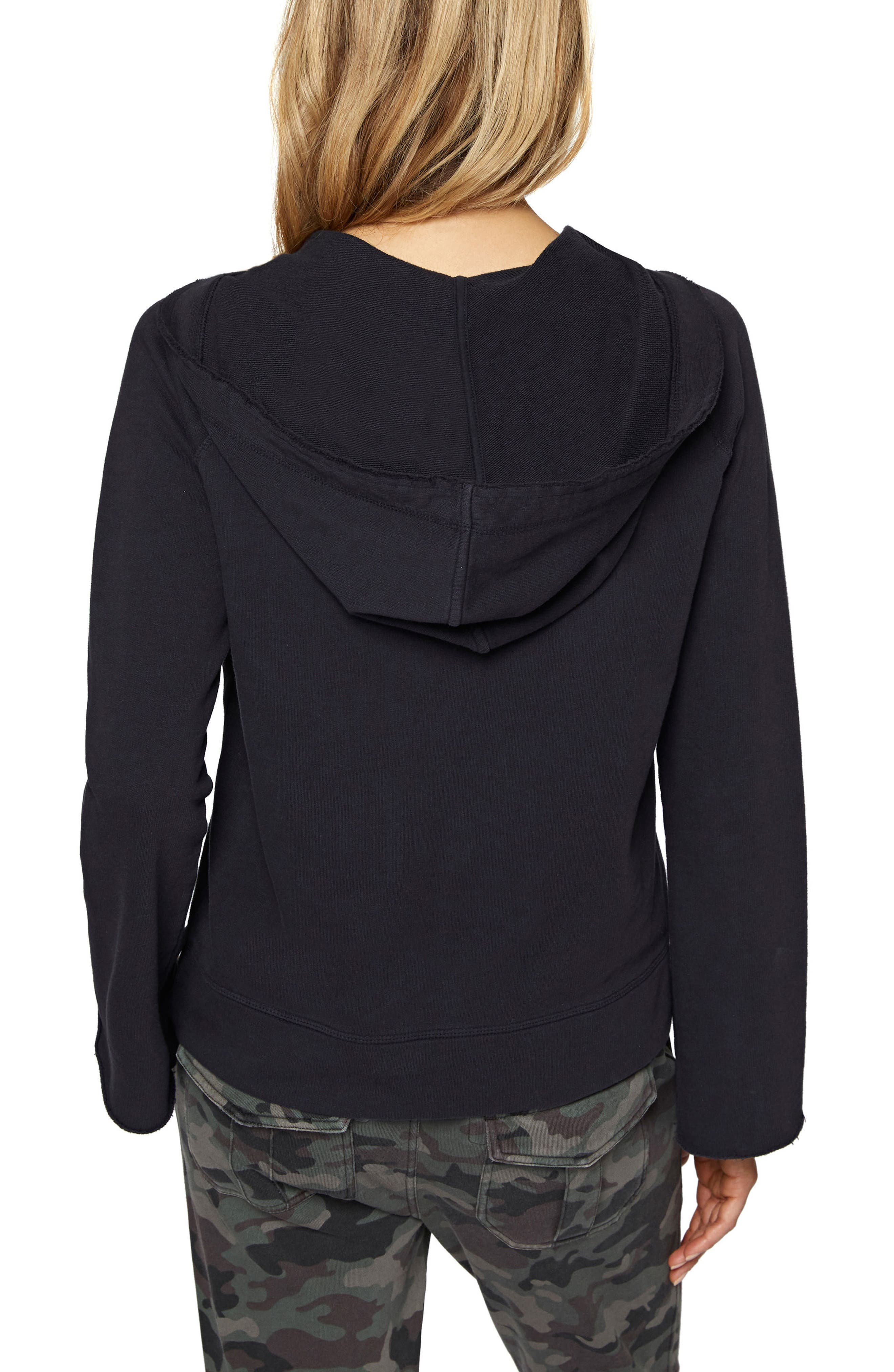 Bailey Lace-Up Hoodie,                             Alternate thumbnail 3, color,