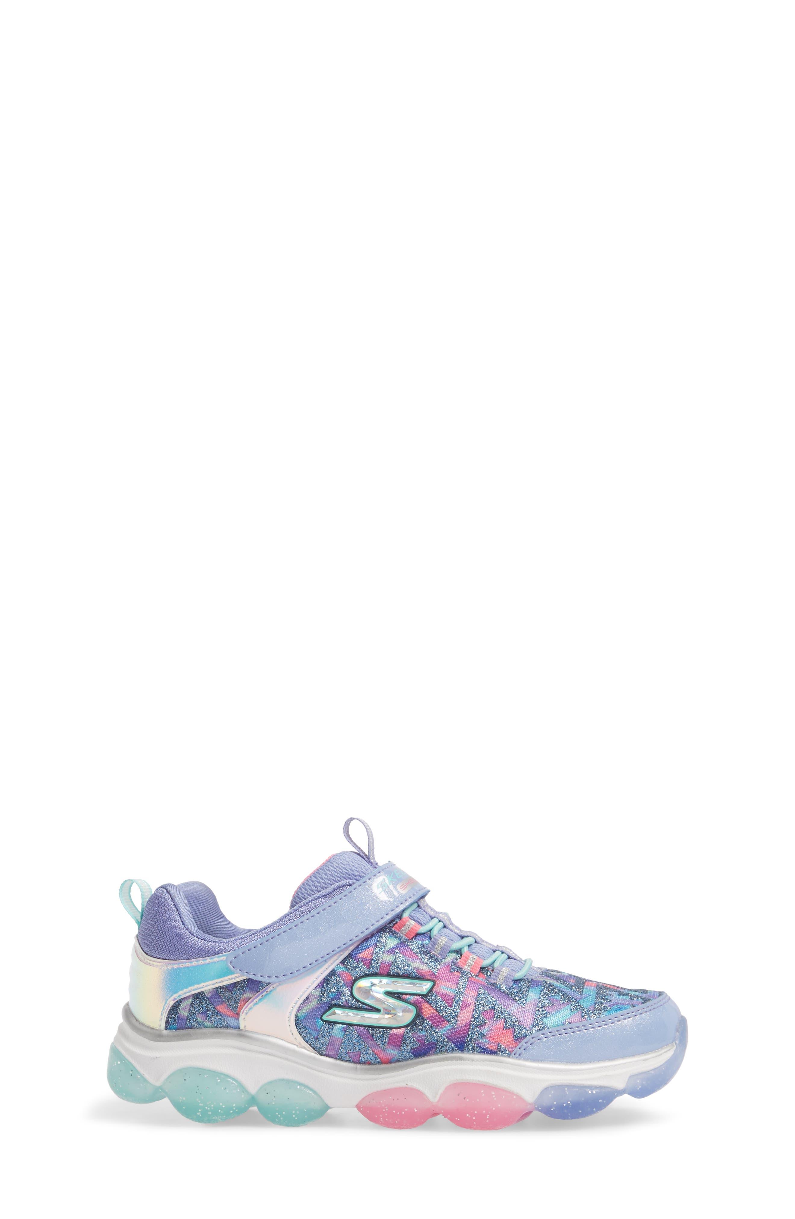 Skech-Air Groove Glitter N Go Sneakers,                             Alternate thumbnail 3, color,                             500
