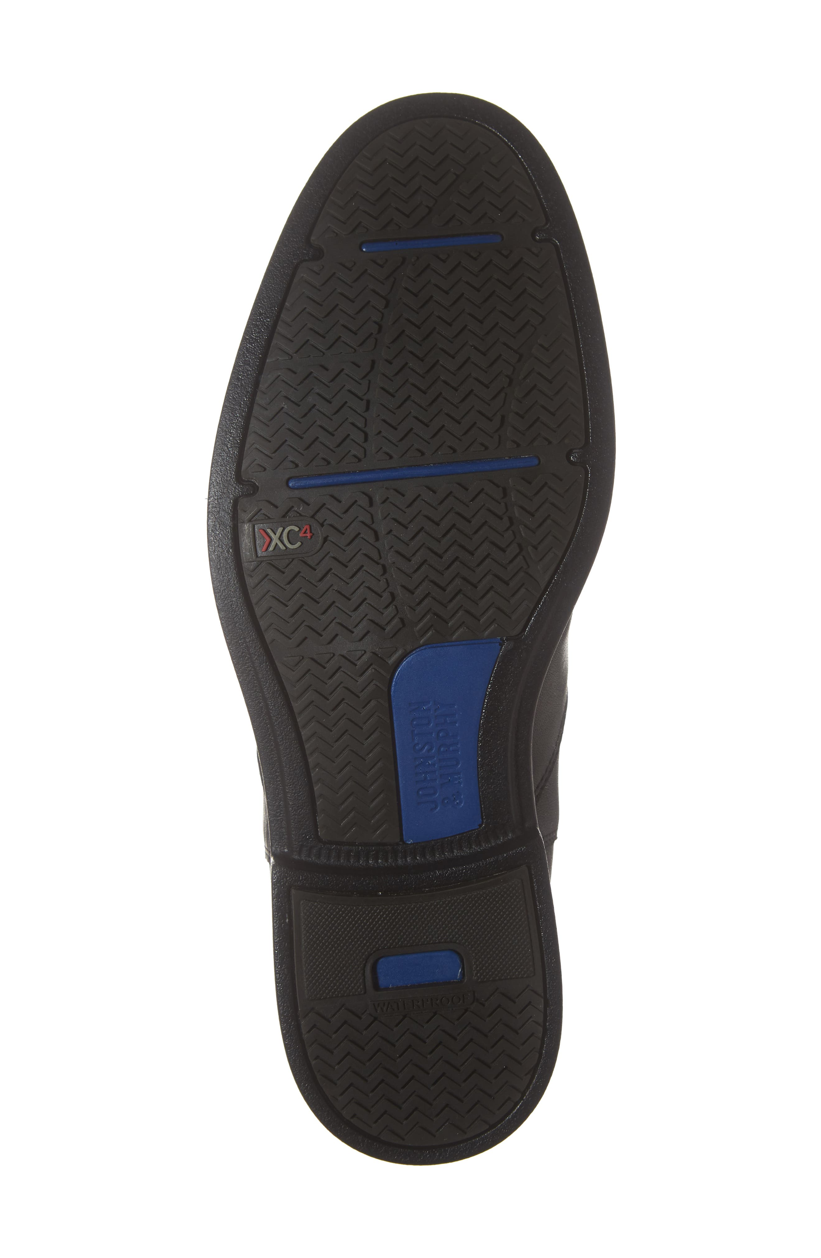 Hollis Waterproof Chelsea Boot,                             Alternate thumbnail 6, color,                             BLACK LEATHER