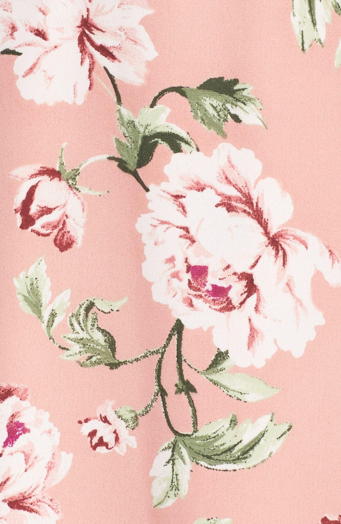 Flutter Sleeve Wrap Dress,                             Alternate thumbnail 5, color,                             652