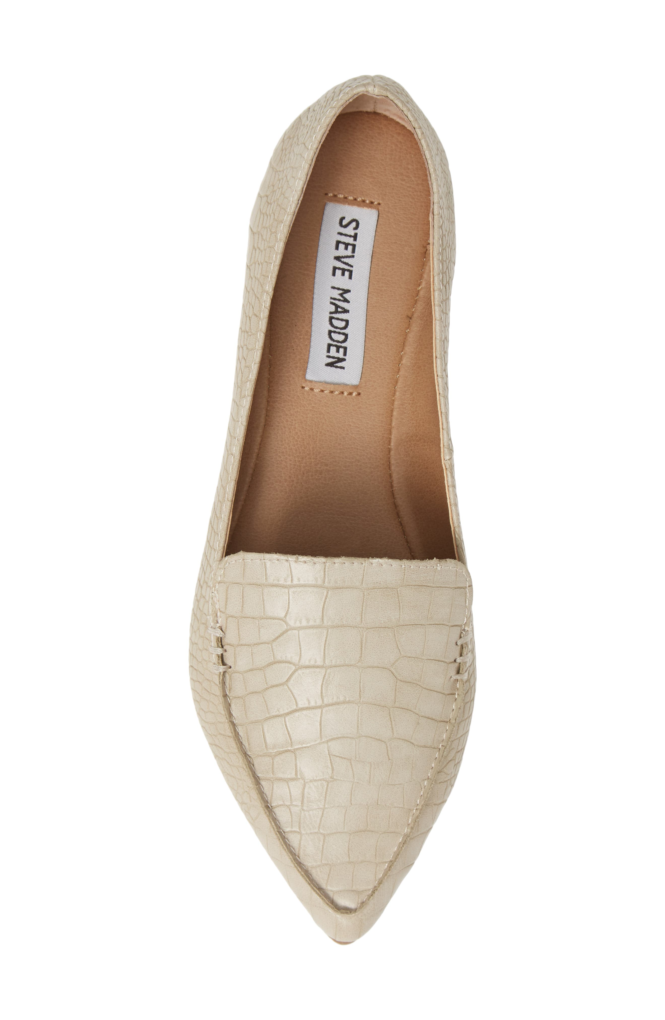 STEVE MADDEN,                             Feather Loafer Flat,                             Alternate thumbnail 5, color,                             TAUPE PRINT