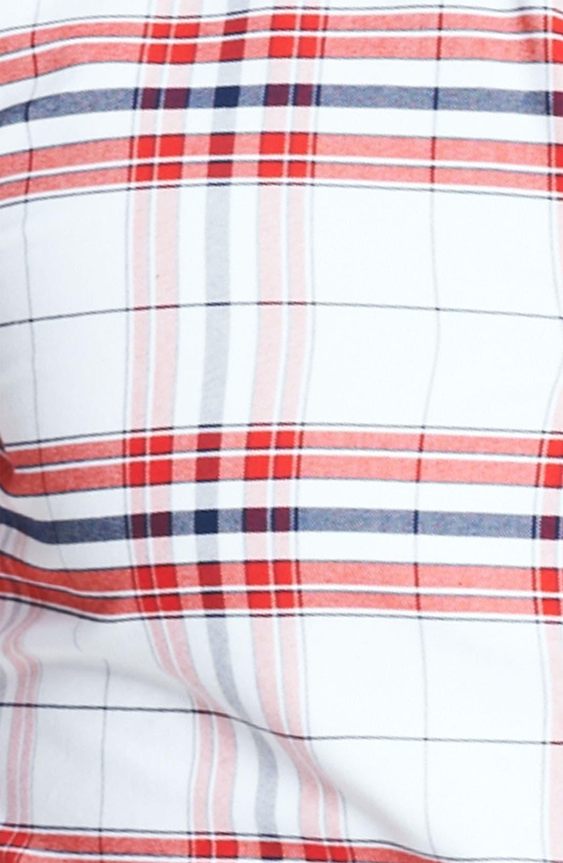 Plaid Oxford Shirt,                             Alternate thumbnail 3, color,                             600