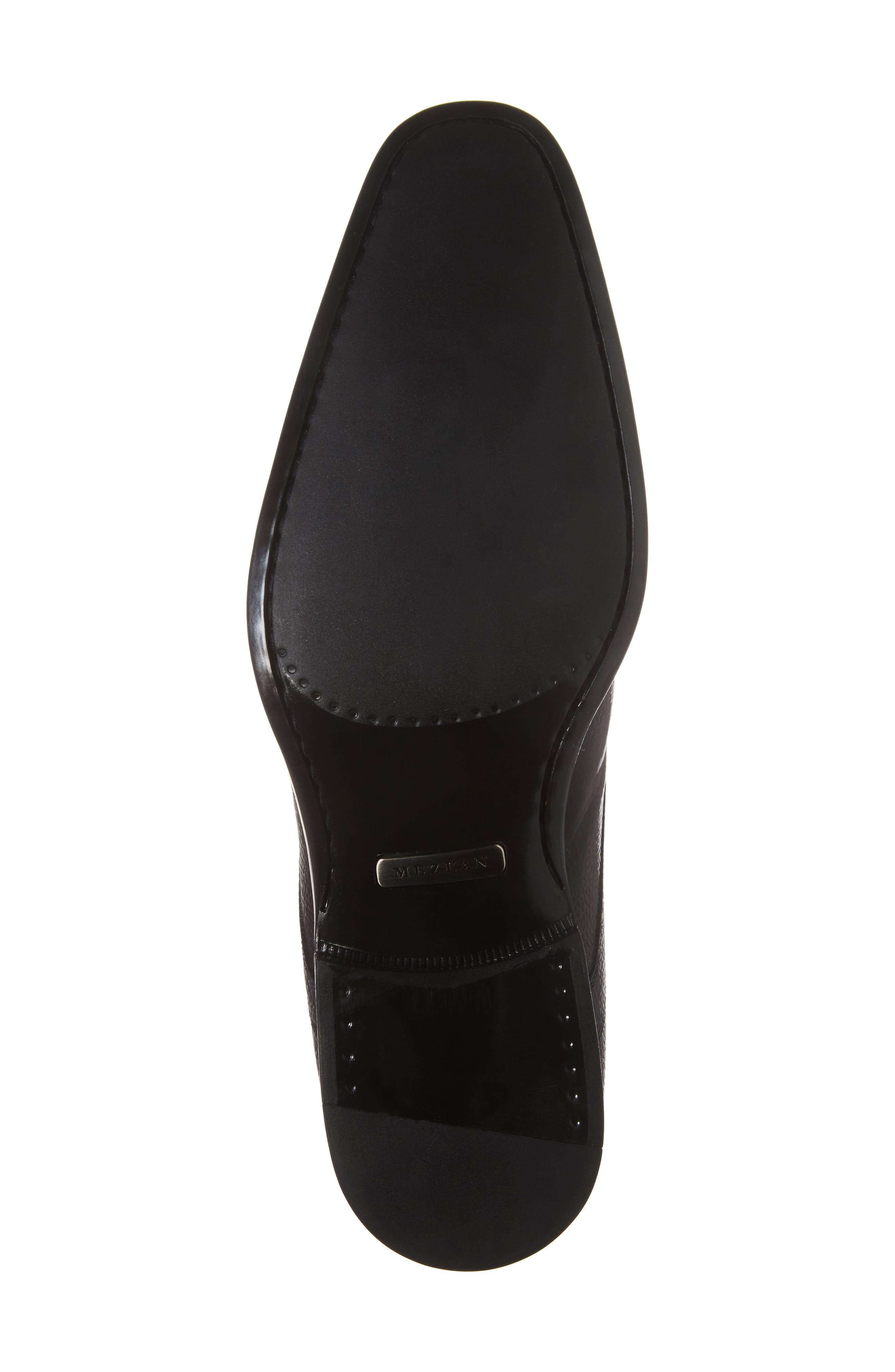 Cabra Plain Toe Derby,                             Alternate thumbnail 6, color,                             BLACK LEATHER