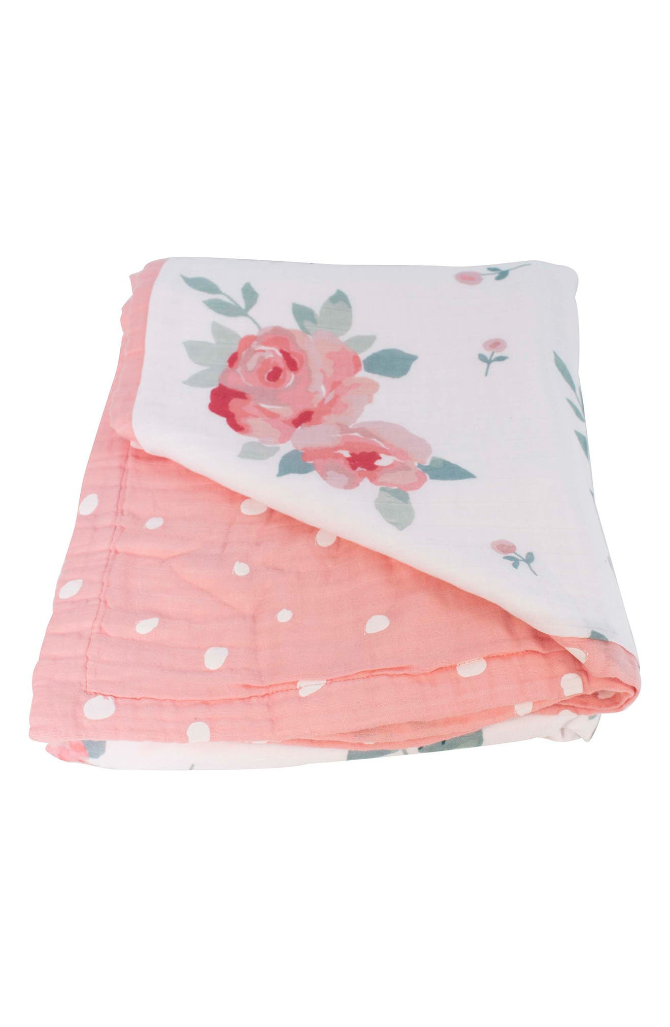 BÉBÉ AU LAIT,                             Oh So Soft Super Snuggle Blanket,                             Alternate thumbnail 2, color,                             ROSY/ DEWDROPS