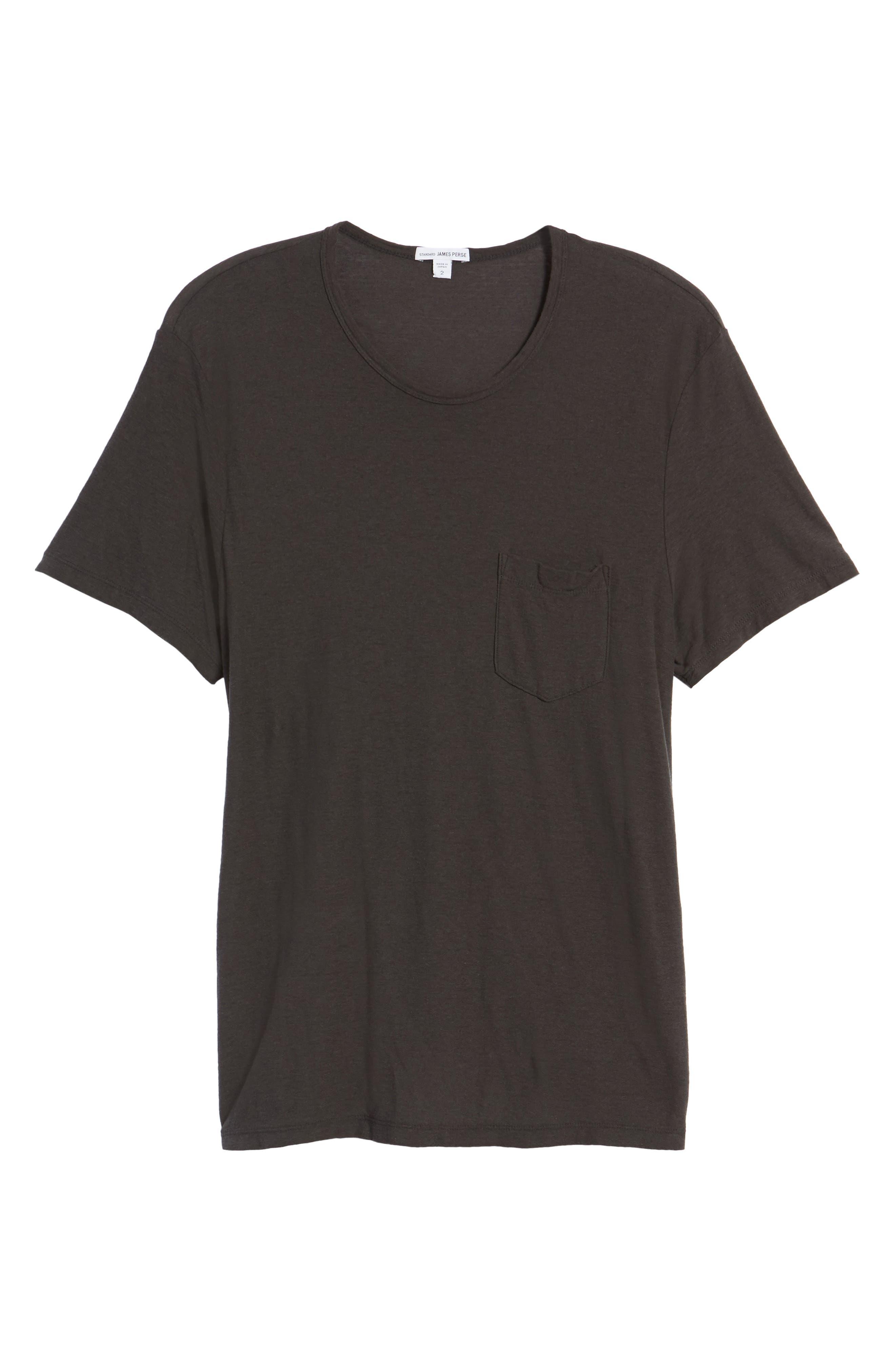 Cotton & Linen Pocket T-Shirt,                             Alternate thumbnail 6, color,                             020