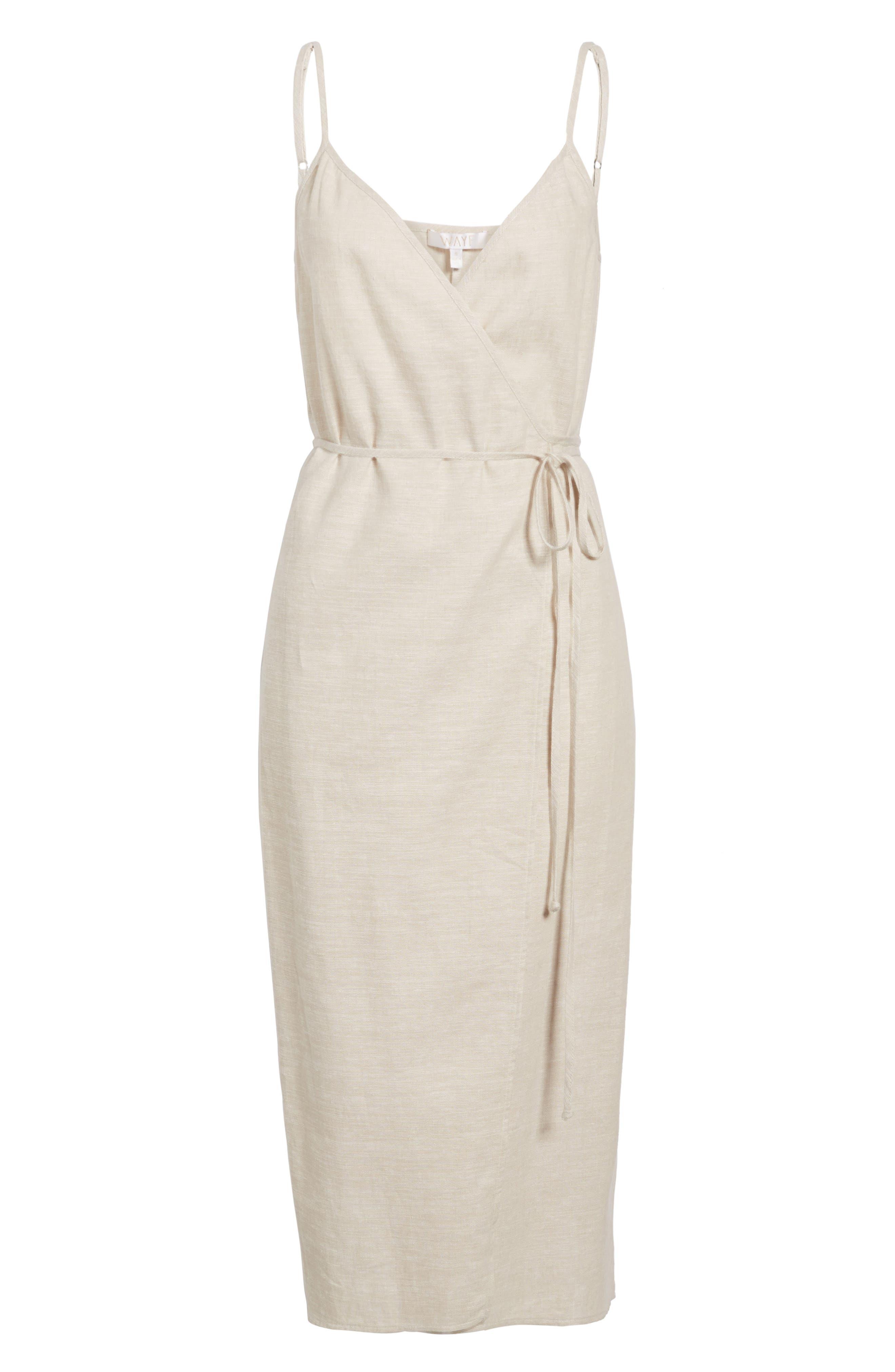 Wrap Midi Dress,                             Alternate thumbnail 22, color,