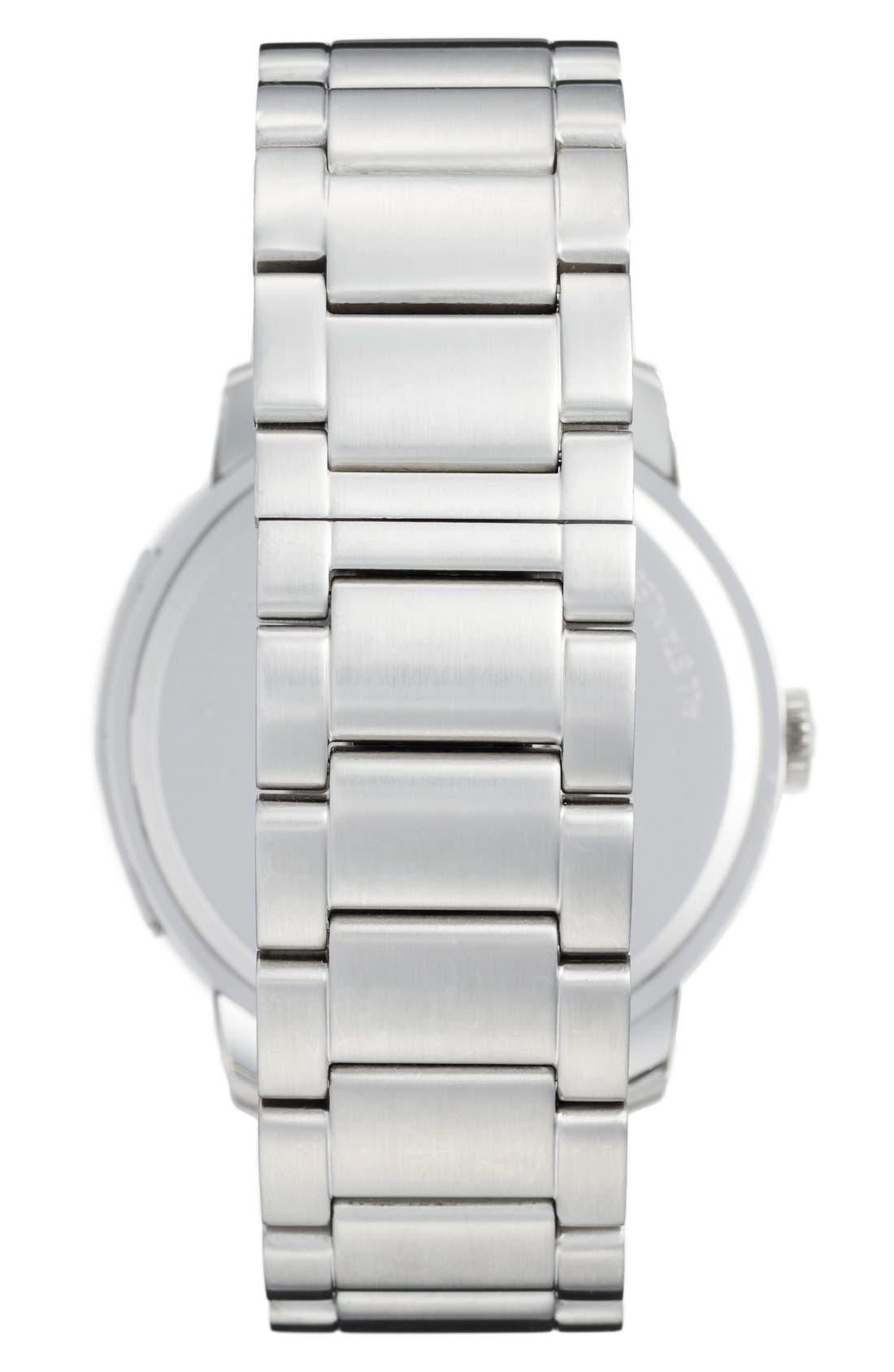 'Bleeker' Round Bracelet Watch, 46mm,                             Alternate thumbnail 2, color,                             SILVER